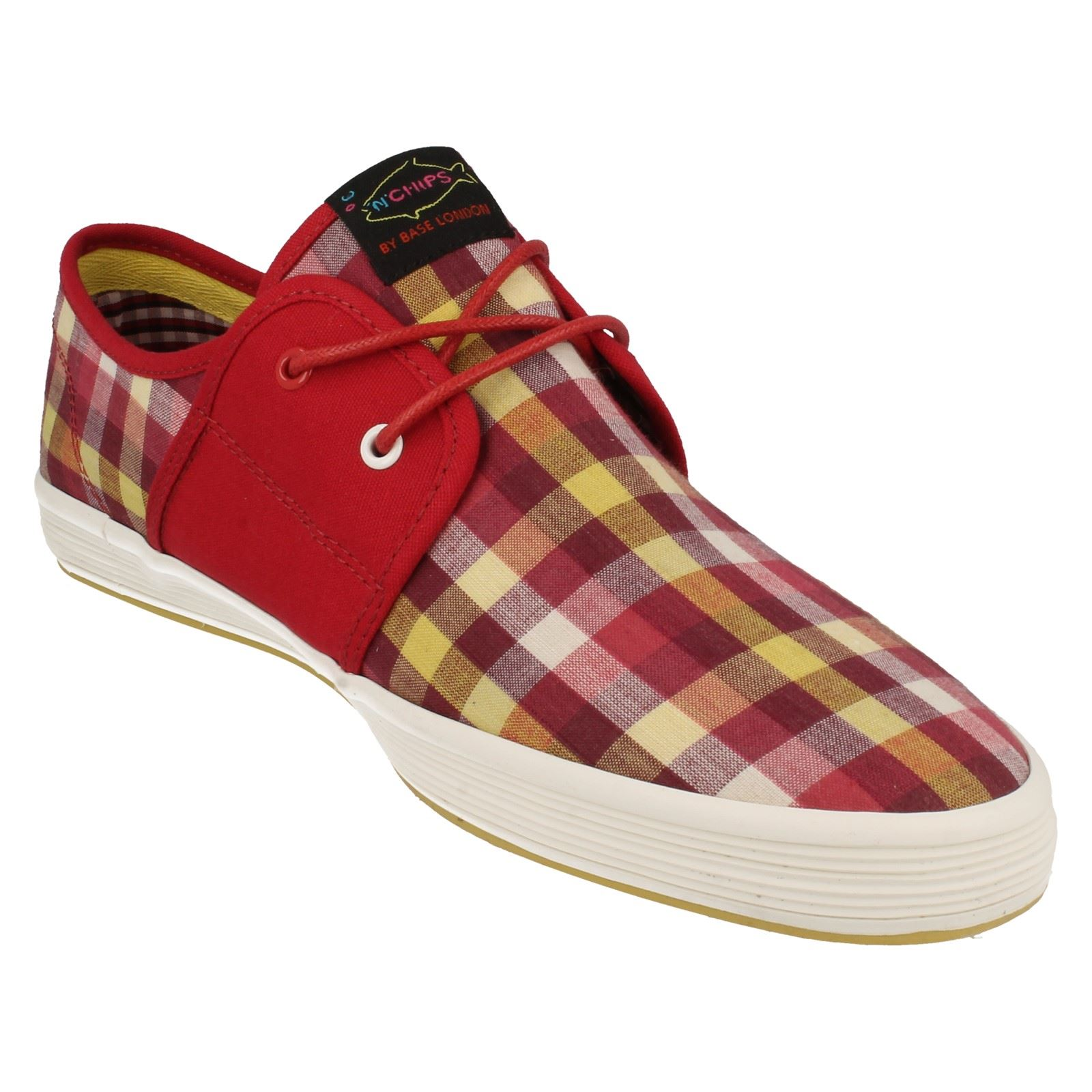 Mens fish n chips by base london casual shoes spam2 ebay for Shoes with fish in them