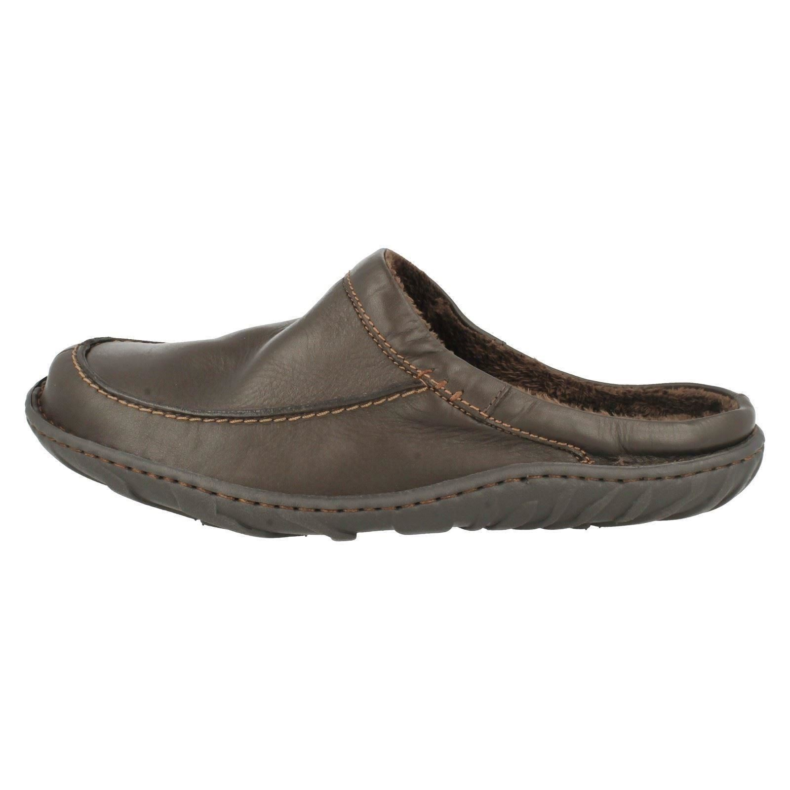 Mens Clarks Kite Vasa Leather Mule Slippers