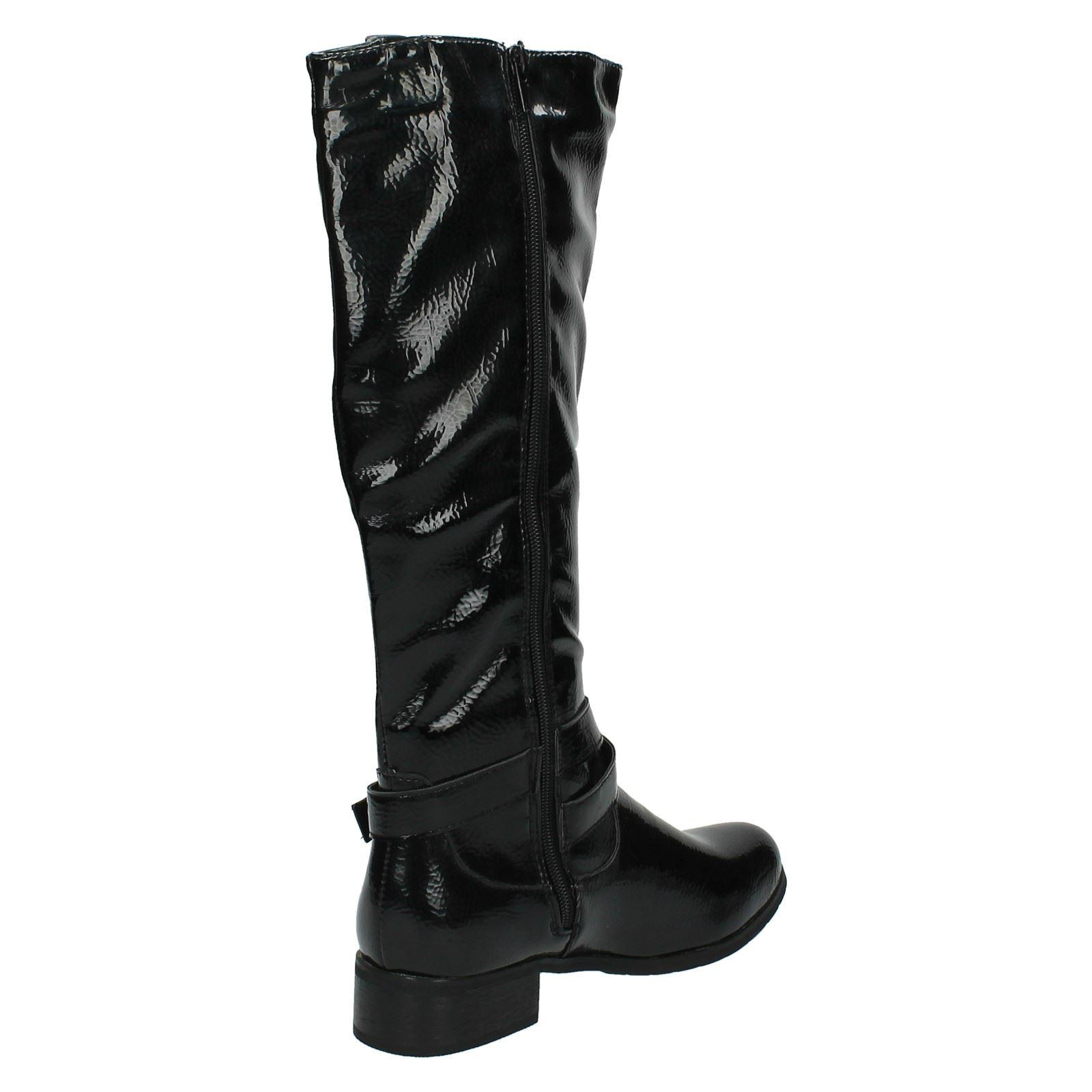Señoras Spot a montar boot/biker Twist la rodilla, botas