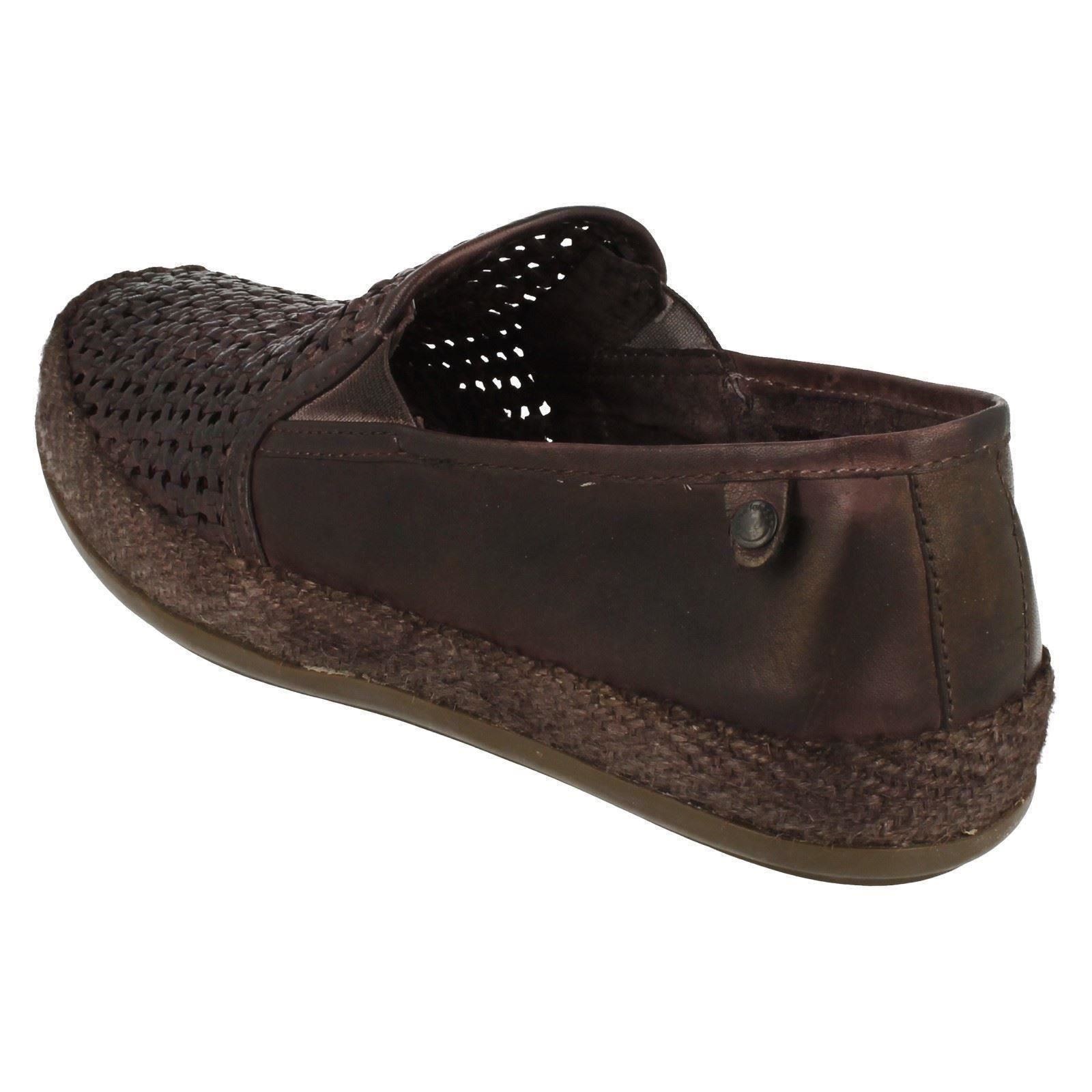 mens base casual slip on woven effect shoes stage