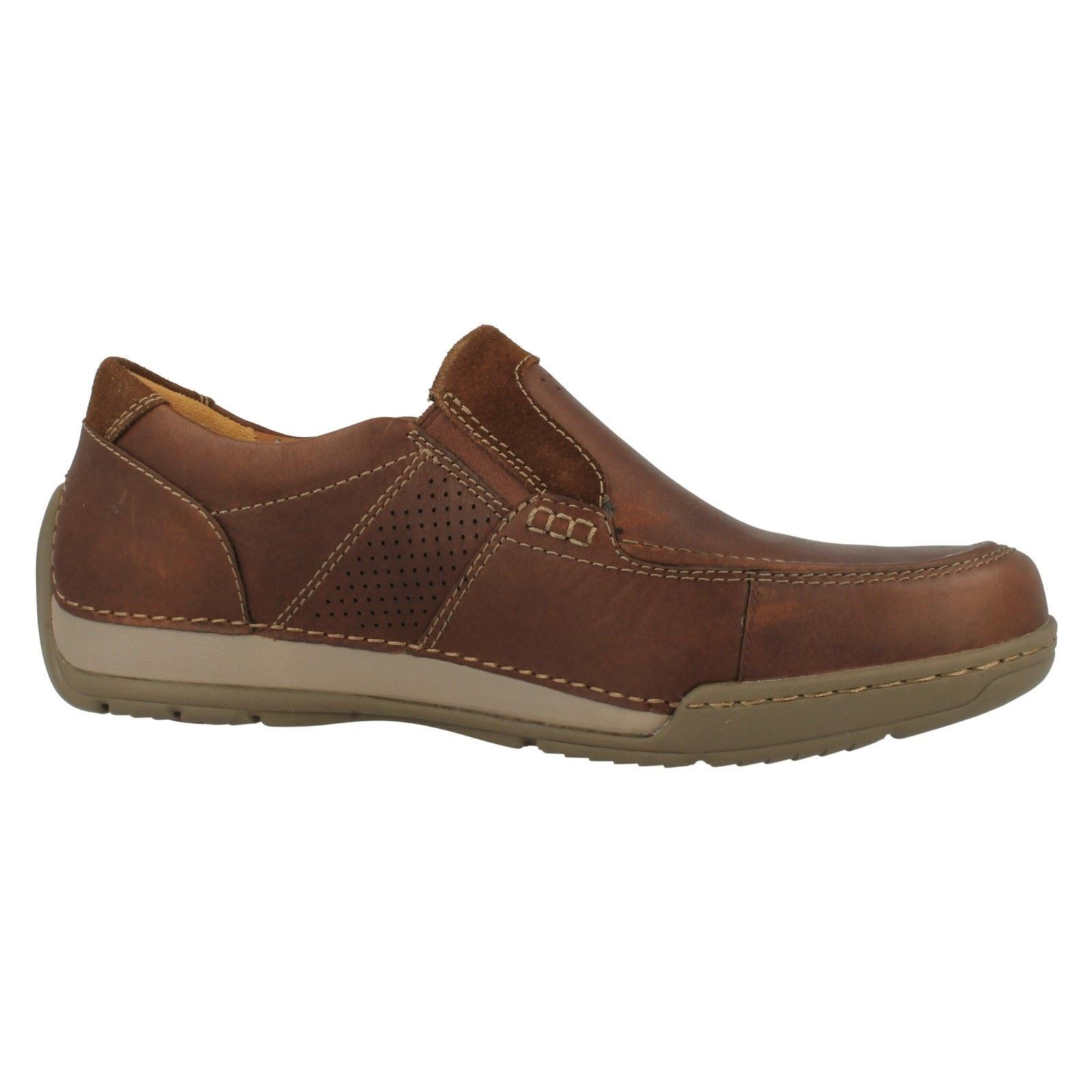 Mens Clarks Active Air Vent Slip On Shoes Fenway Step Ebay