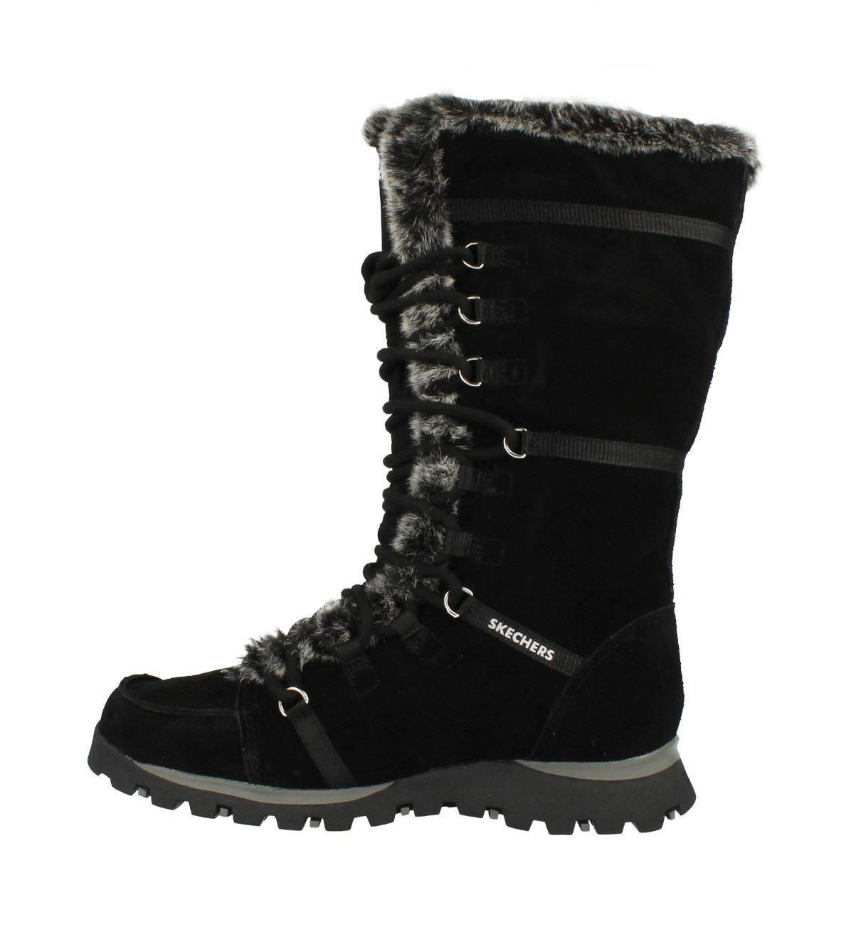 Ladies Skechers Mid Calf Winter Boots Grand Jams Unlimited