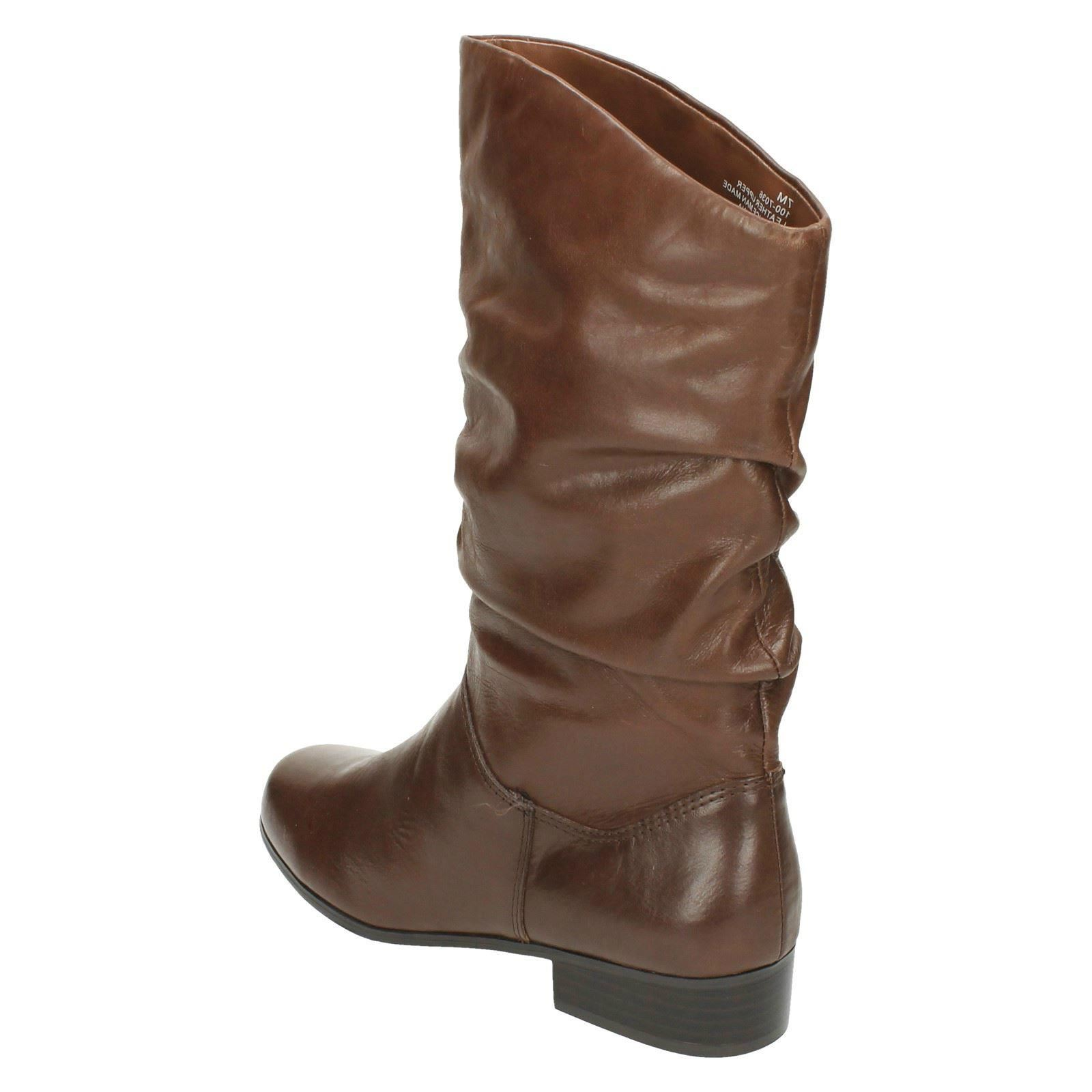 leather collection calf length boots f50694 ebay