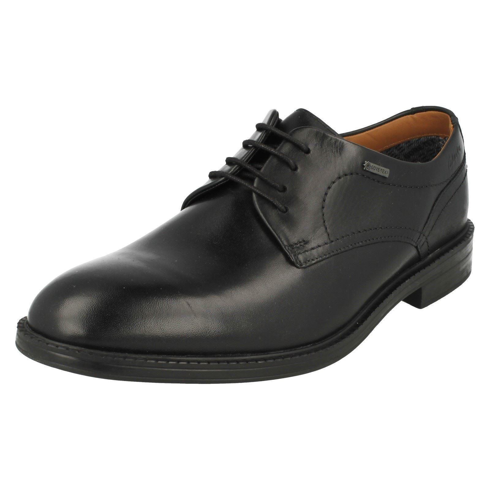 Mens Clarks Black Goretex Shoes