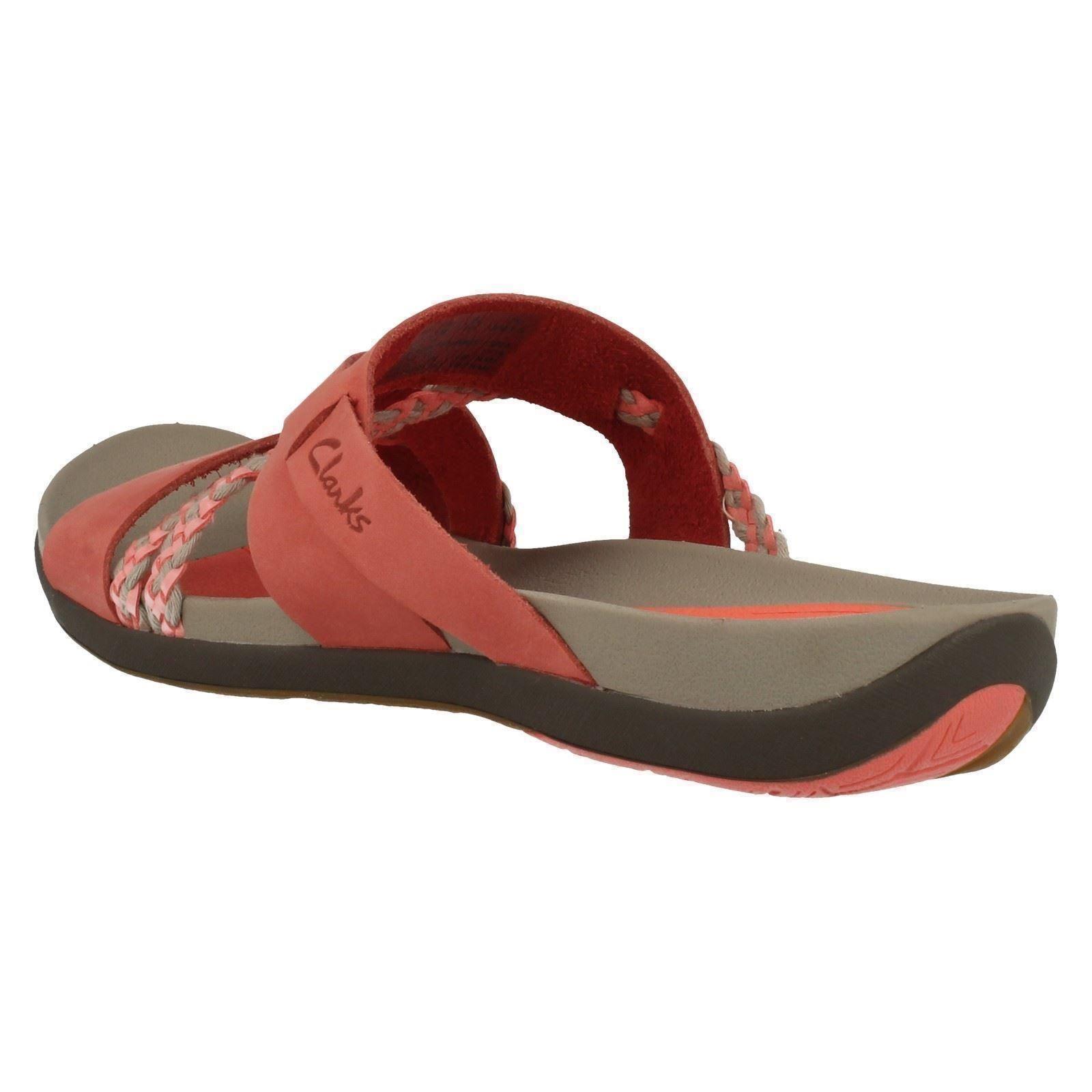 Ladies Clarks Casual Sandals Tealite Slide Ebay