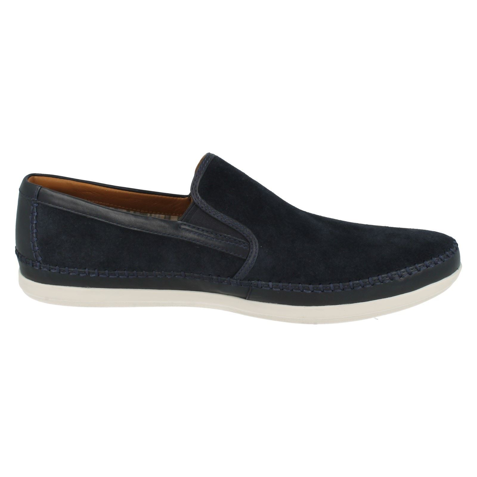 mens clarks suede leather slip on shoes mask way ebay