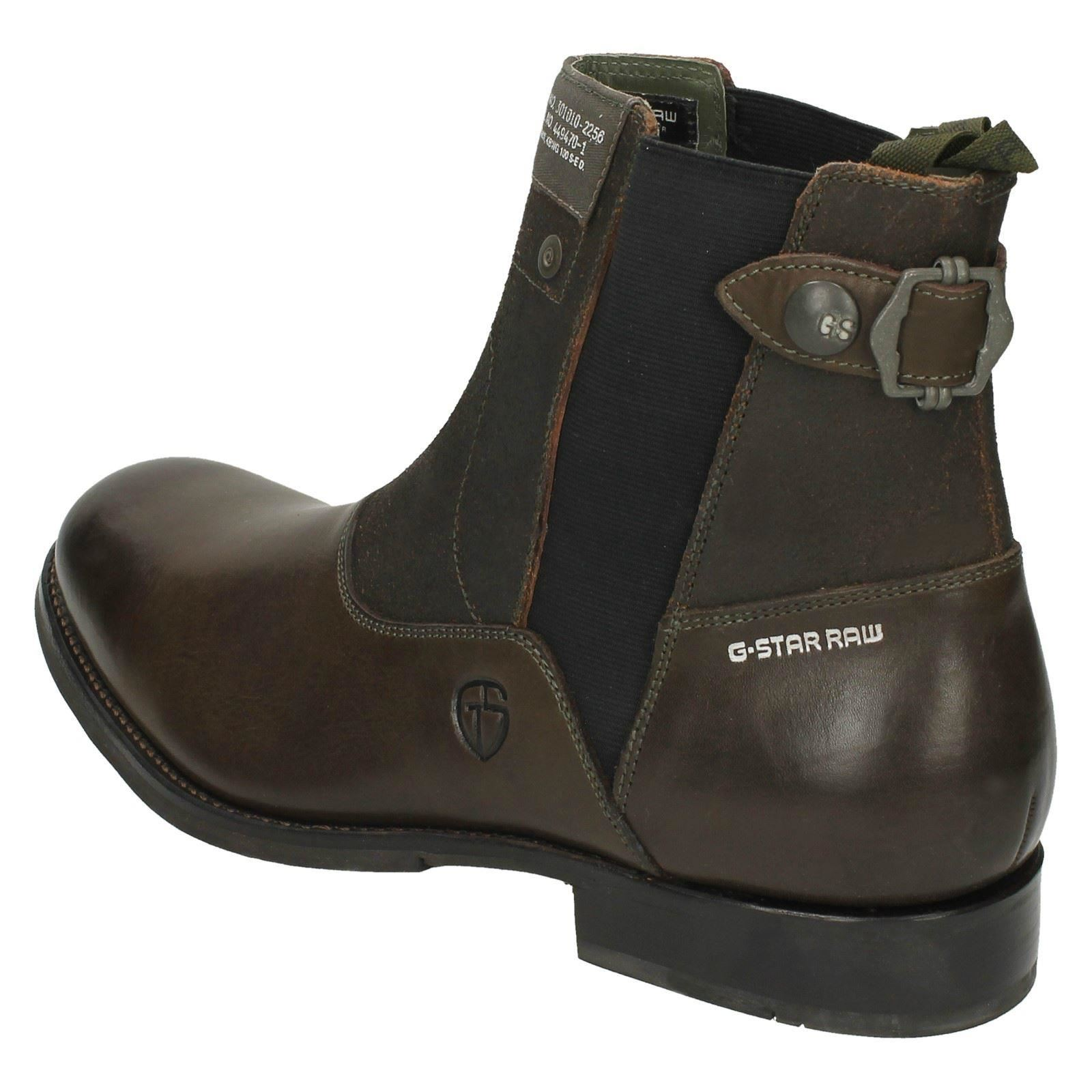 mens g star raw ankle boots attache ebay. Black Bedroom Furniture Sets. Home Design Ideas