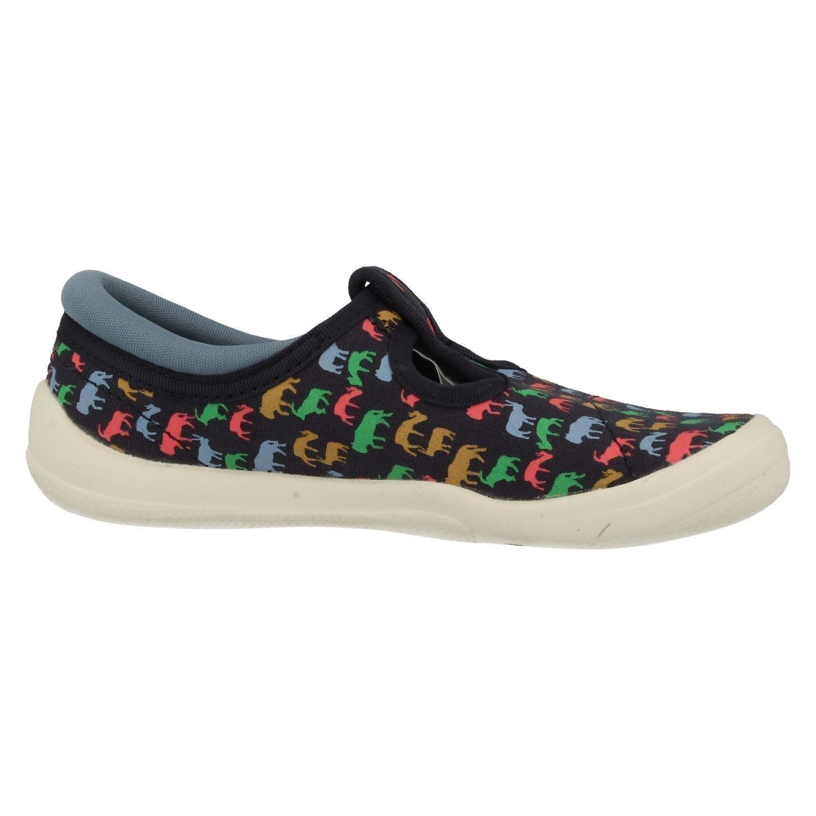 boys clarks doodles canvas shoes with animal print