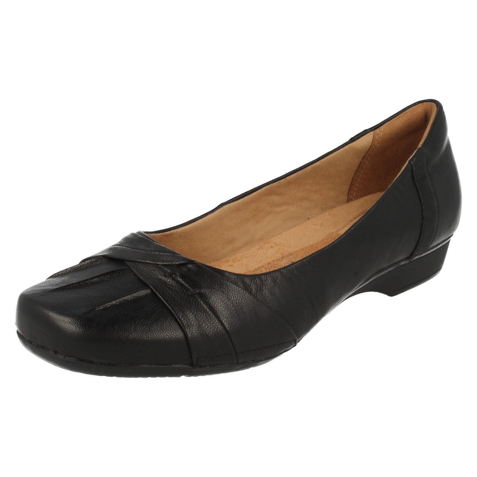 Clarks Ladies Black Slip On Shoes