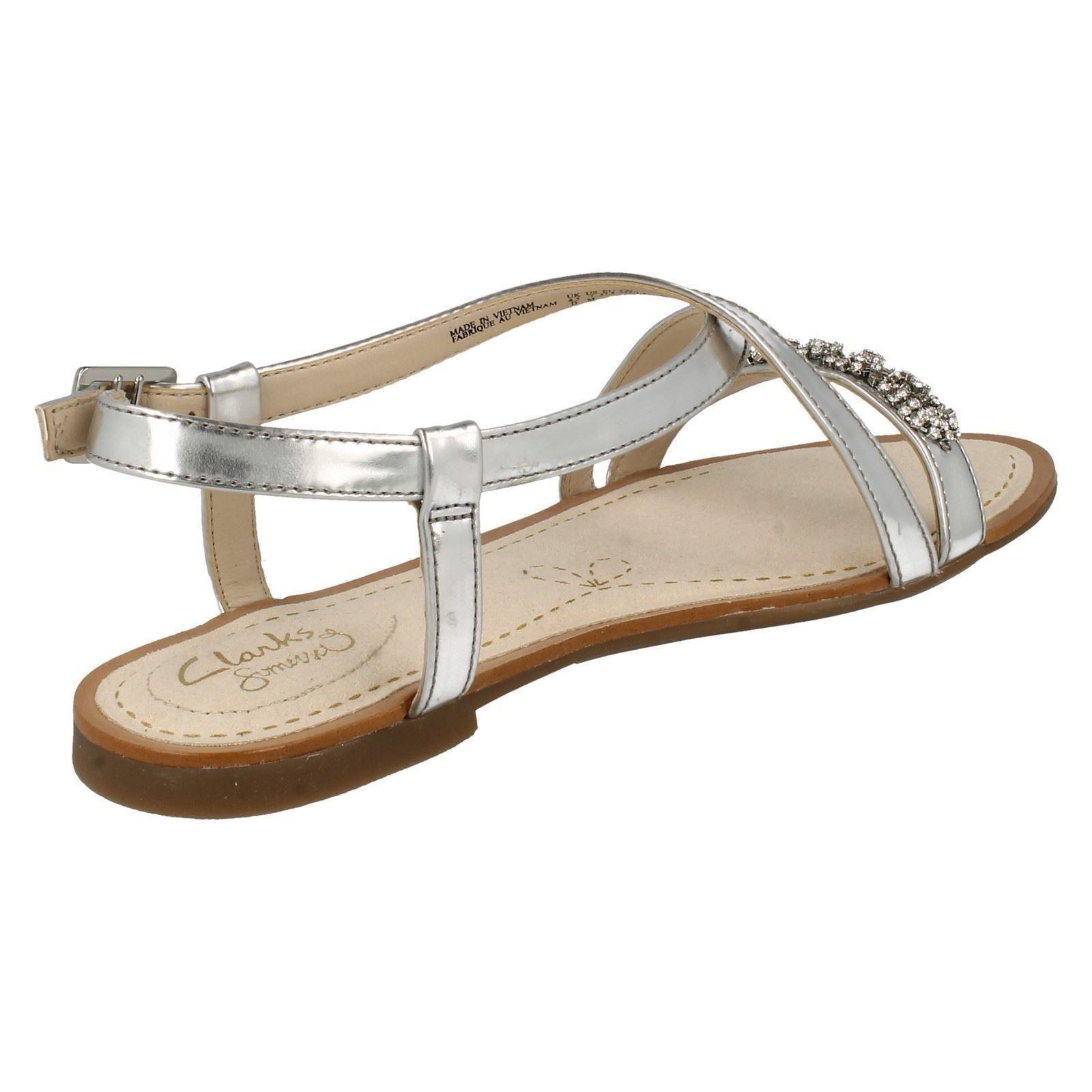Ladies Clarks Strappy Flat Sandals Sail Breeze Ebay