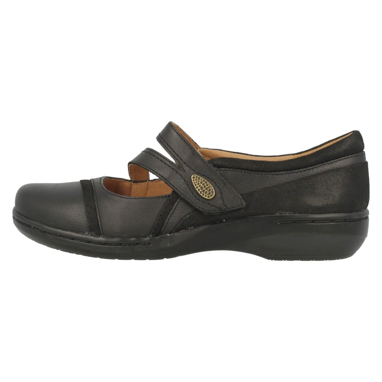 Ladies Clarks Collection Leather Mary Jane Flat Shoes ...