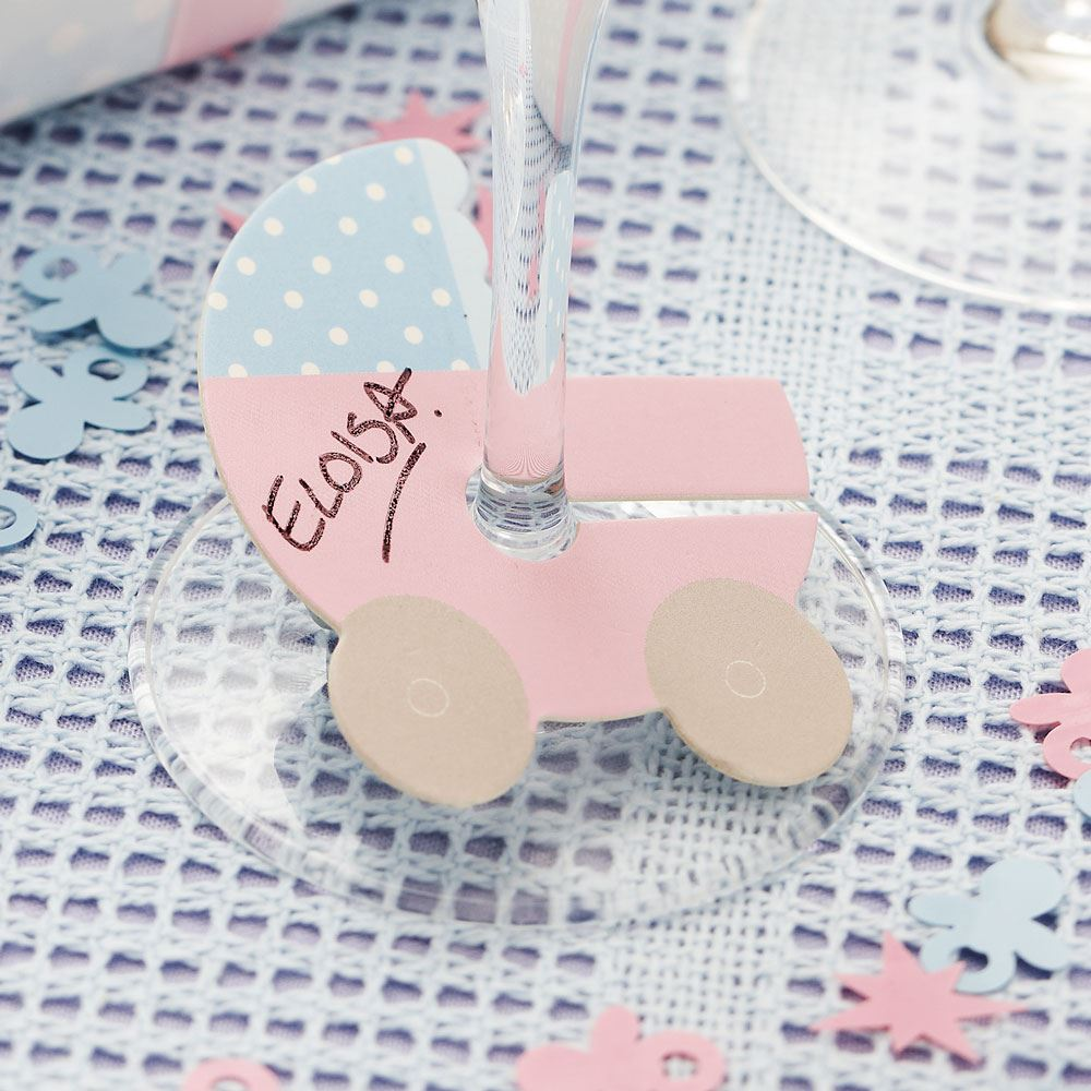 Baby Shower Neutral Decorations Uk ~ Tiny feet baby shower party supplies pink blue tableware