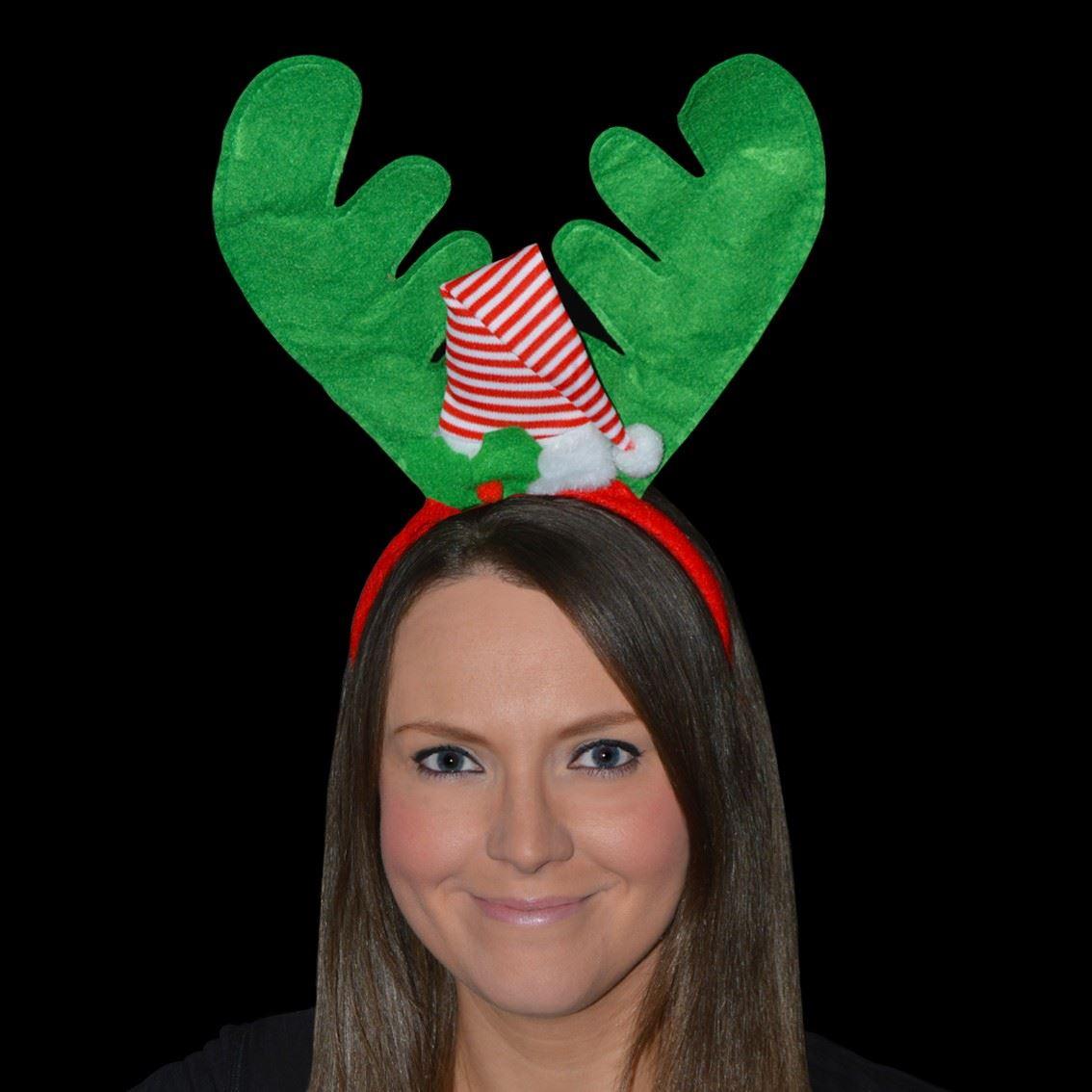 Details about christmas hats headbands fancy dress hat turkey reindeer