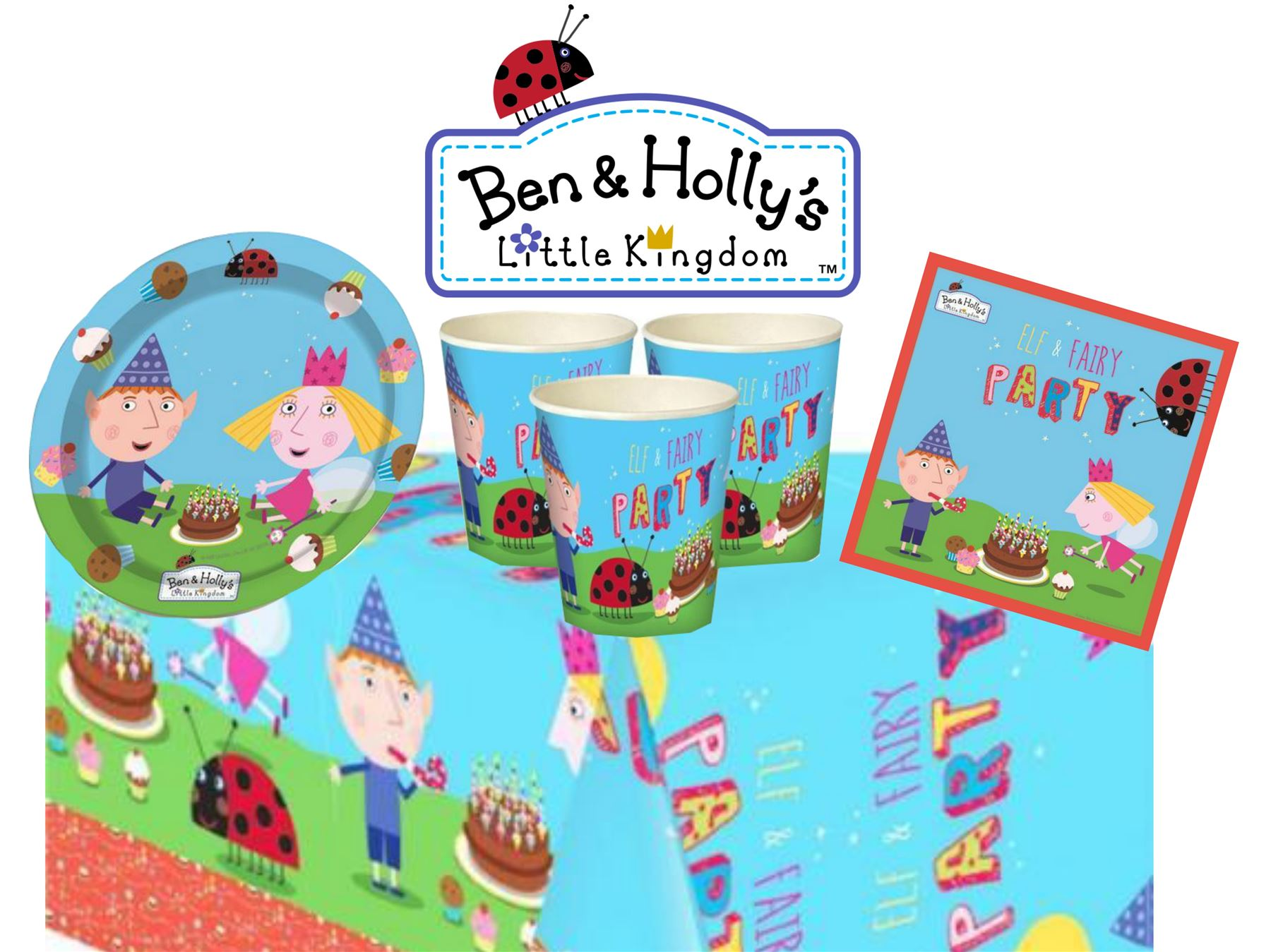 Ben And Holly Party Sets Tableware Childrens Birthday Party