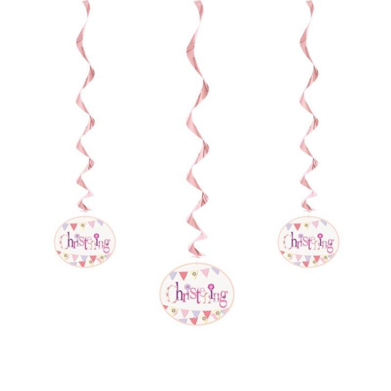 Baby Shower Neutral Decorations Uk ~ Baby shower christening party hanging swirl decorations