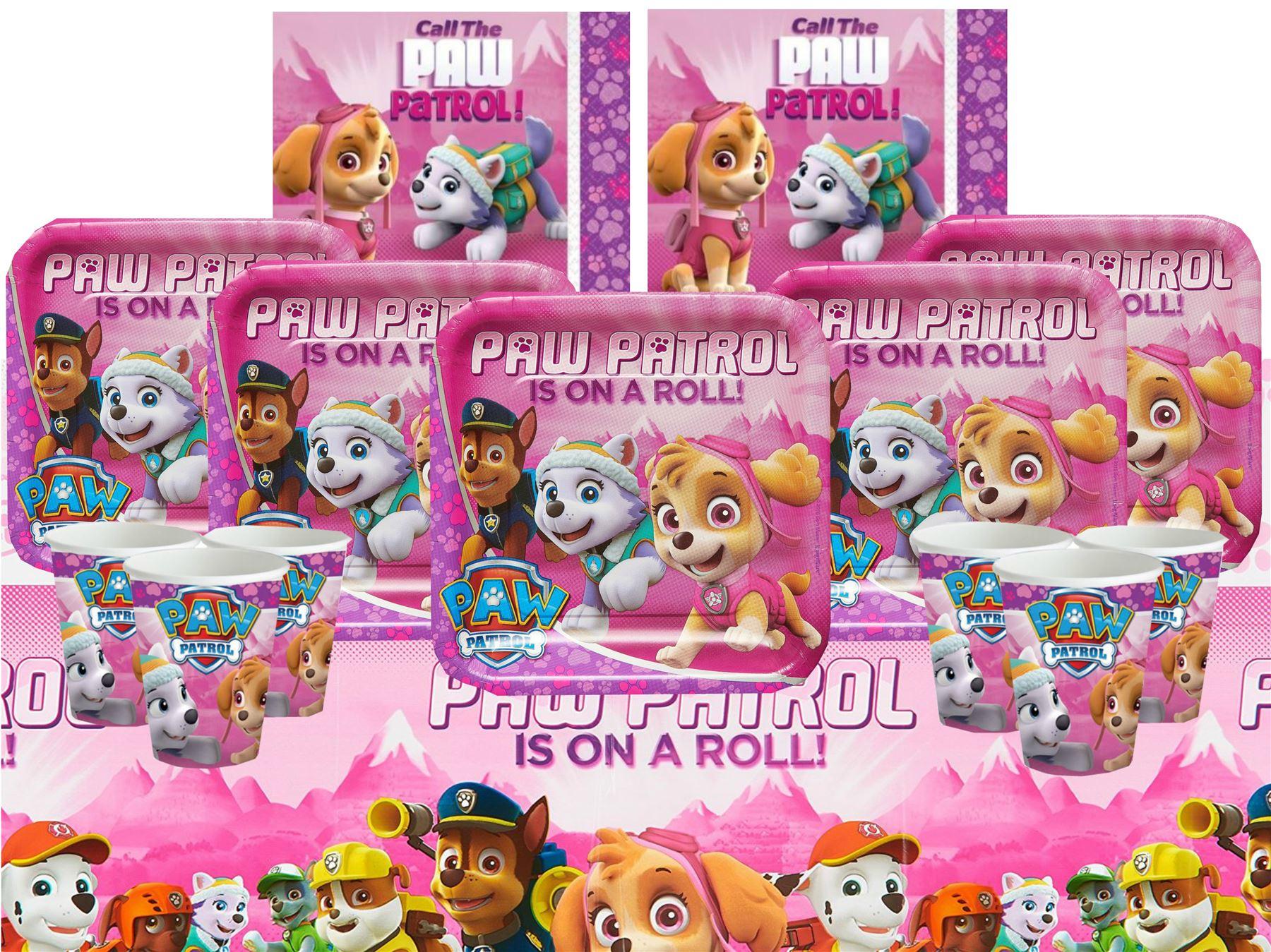 Paw patrol ni a rosa kits de fiesta de cumplea os vajilla - Fiesta de cumpleanos para nina ...