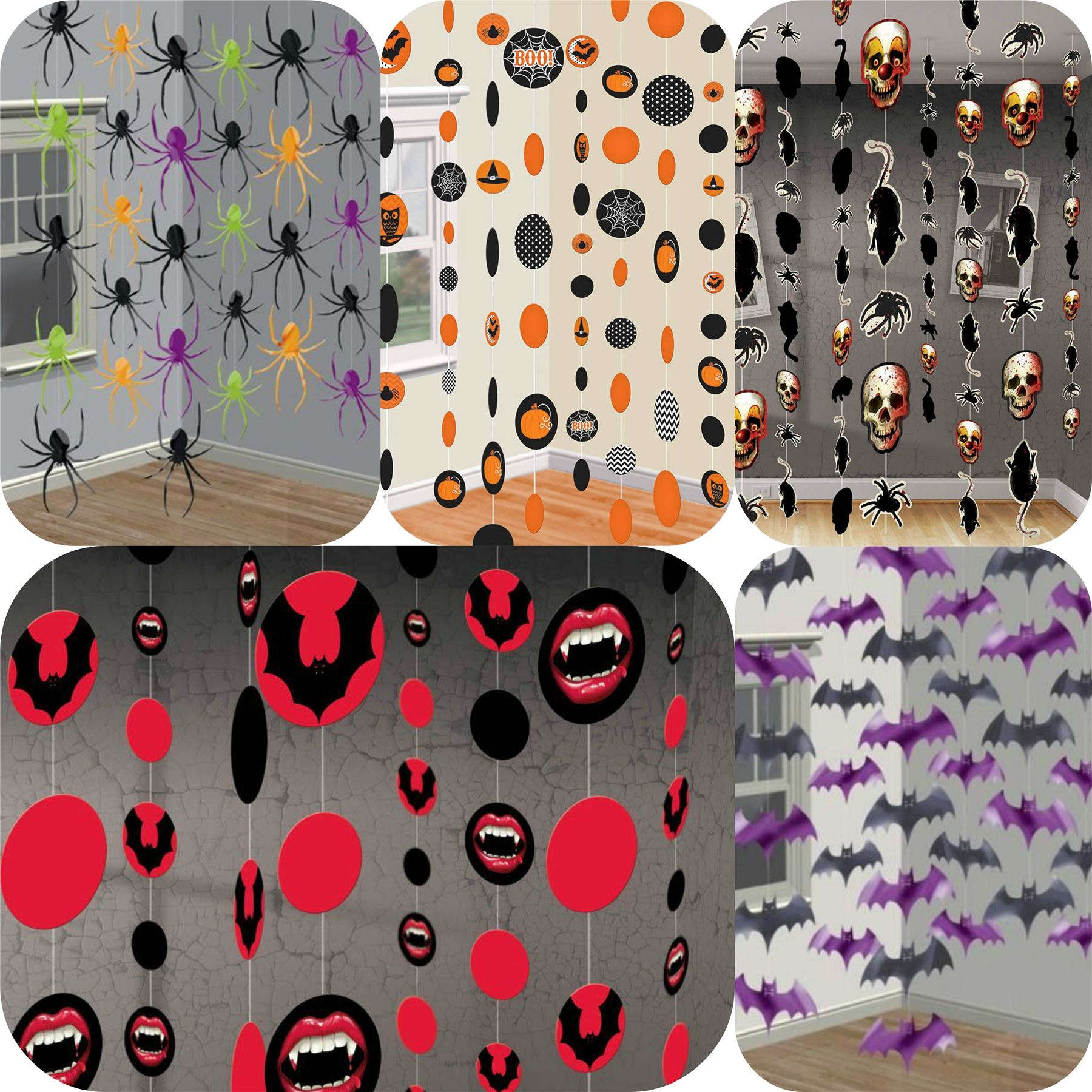 Halloween Hanging String Party Decorations Vampire Evil