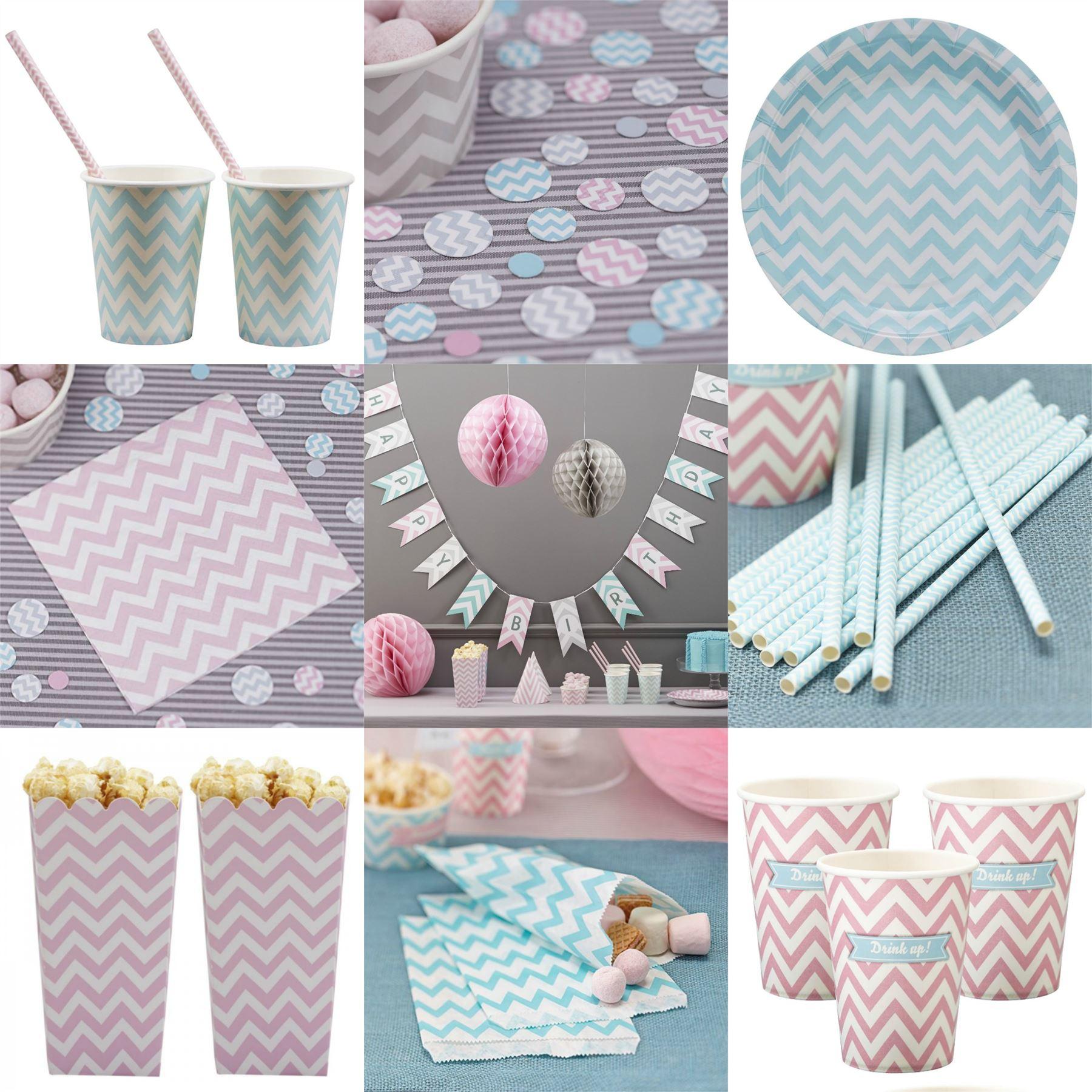 chevron divine print party tableware baby shower neutral decorations