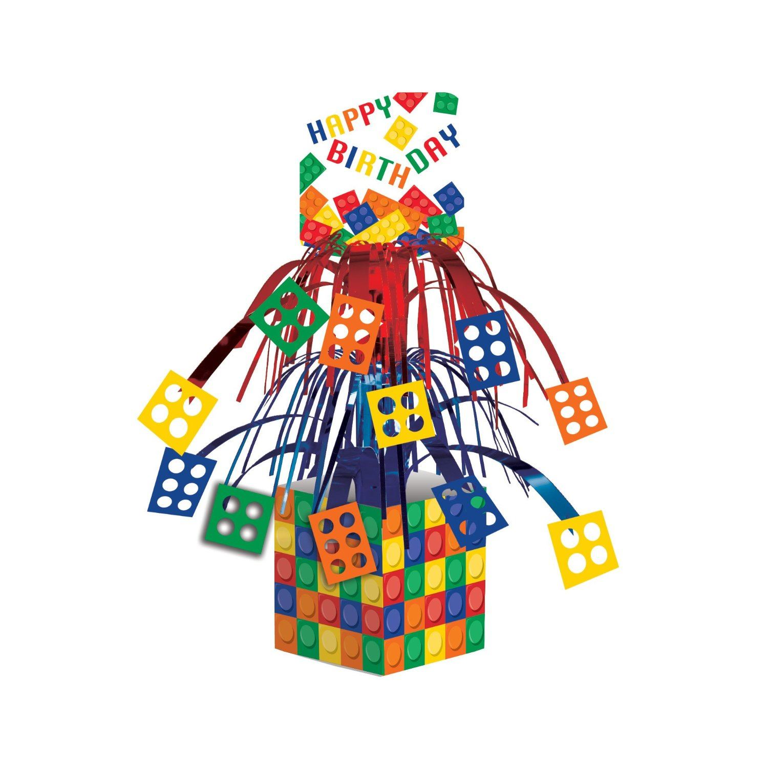 Block party lego supplies tableware decorations party for Decoration lego