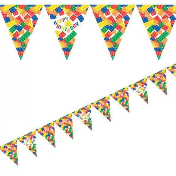 Block party decorations birthday party supplies banner for Balloon banner decoration