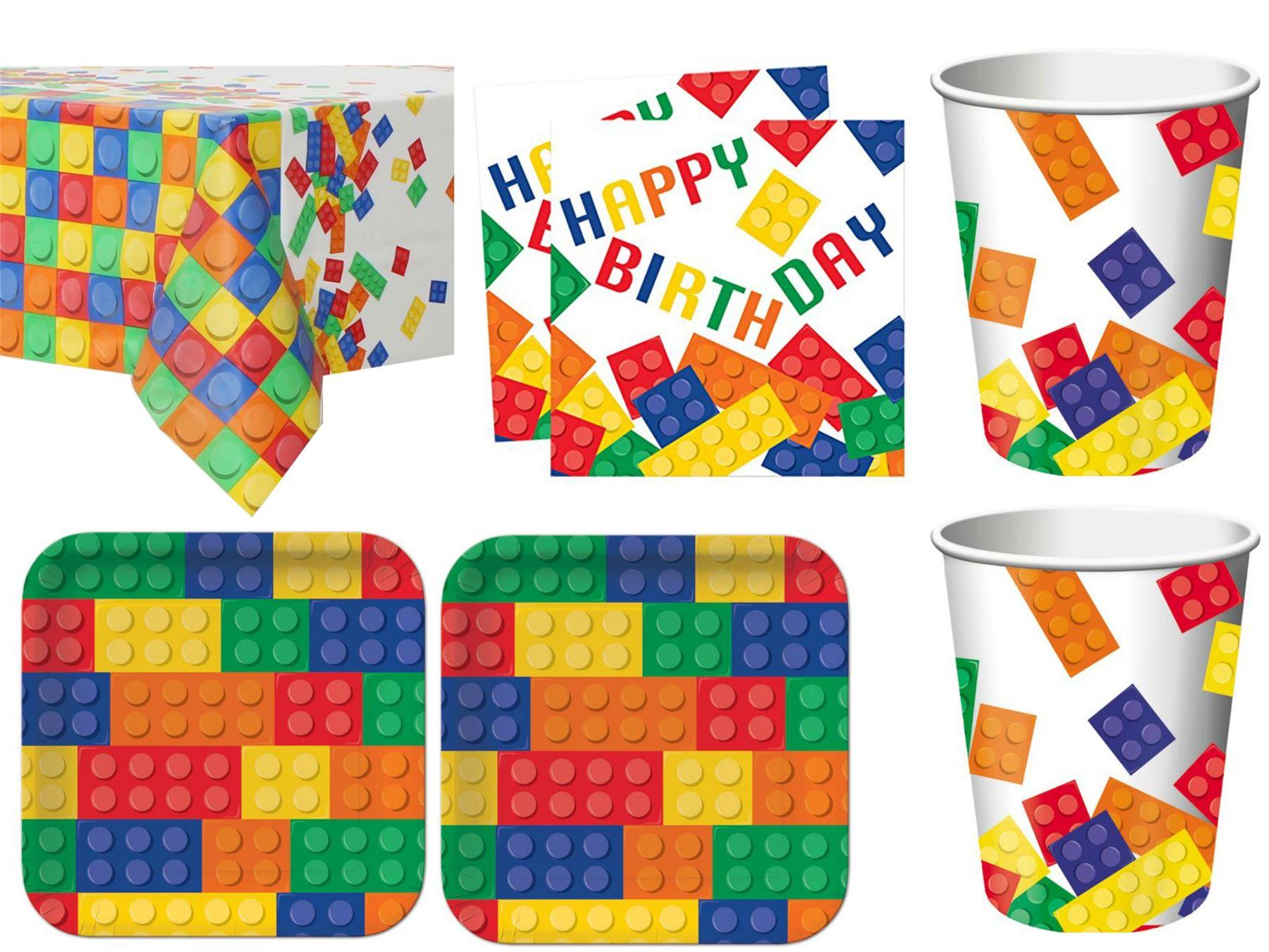Block-Party-Lego-Tableware-Birthday-Party-Kit-Supplies-  sc 1 st  eBay & Block Party Lego Tableware Birthday Party Kit Supplies 8 or 16 ...