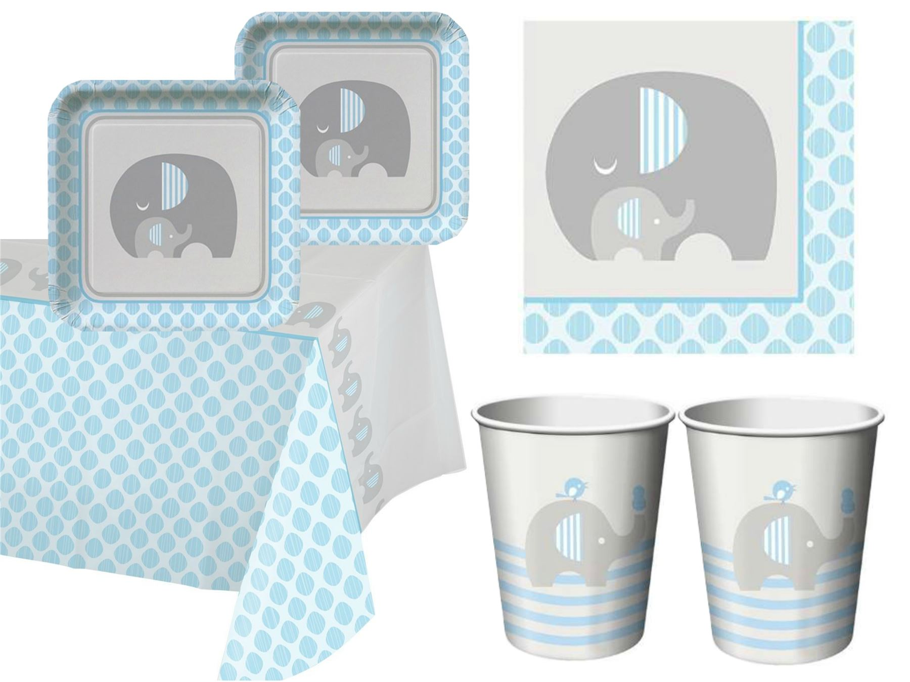 baby shower boy tableware blue sets plates napkins party supplies