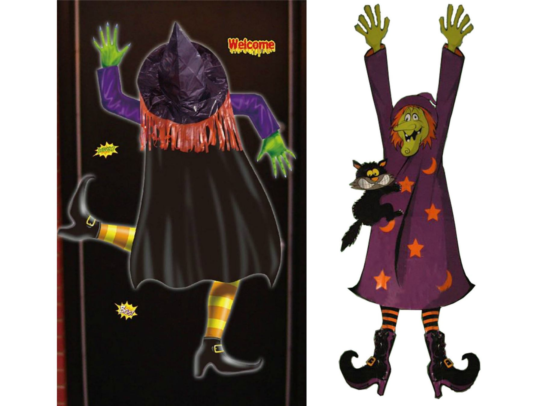 Halloween crashed witch party hanging decoration banner for 3 witches halloween decoration