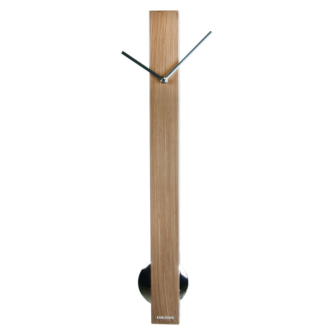 Karlsson tubular pendulum modern long designer home metal wall clock - Stylish pendulum wall clock ...