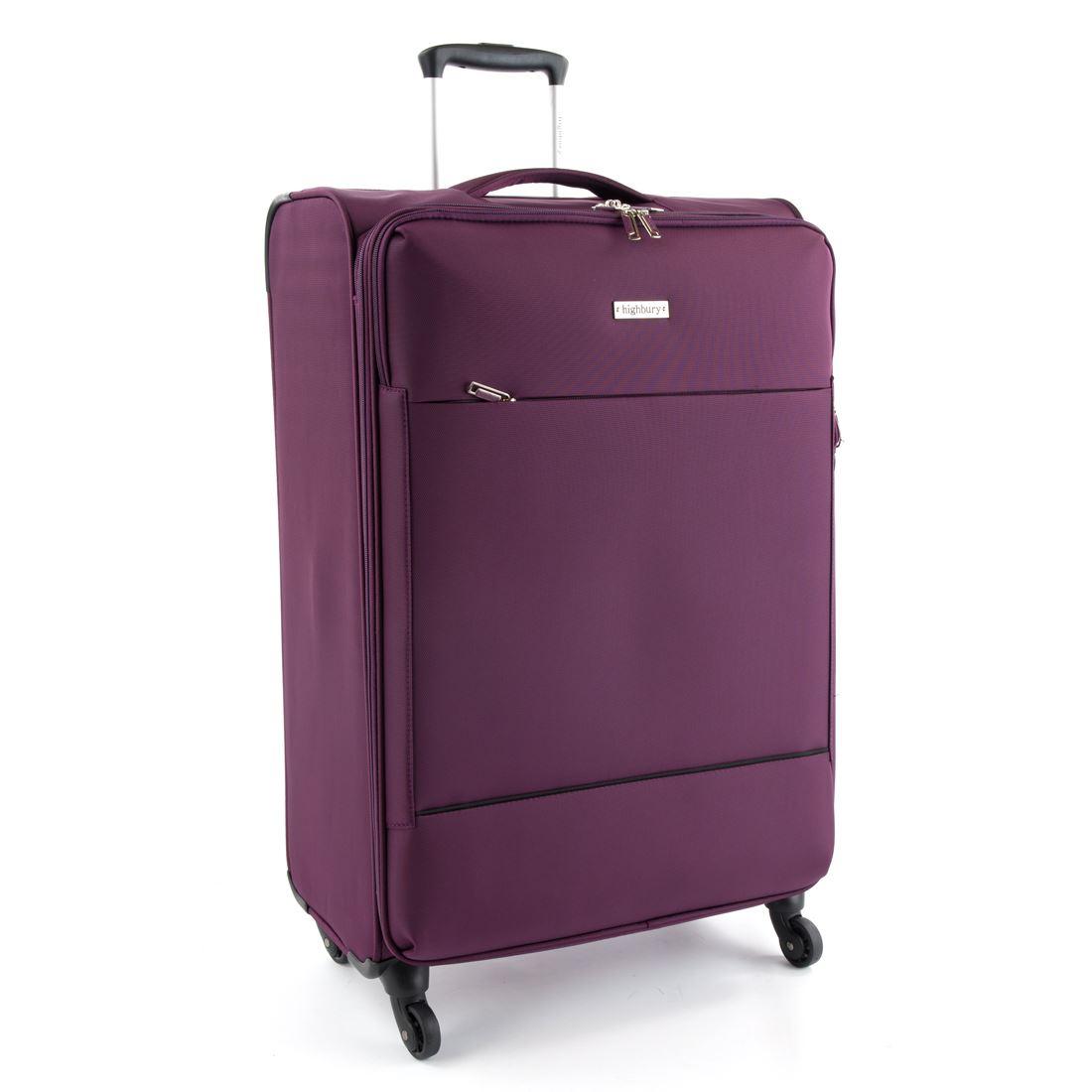 highbury suitcase luggage lightweight 4 wheel trolley. Black Bedroom Furniture Sets. Home Design Ideas