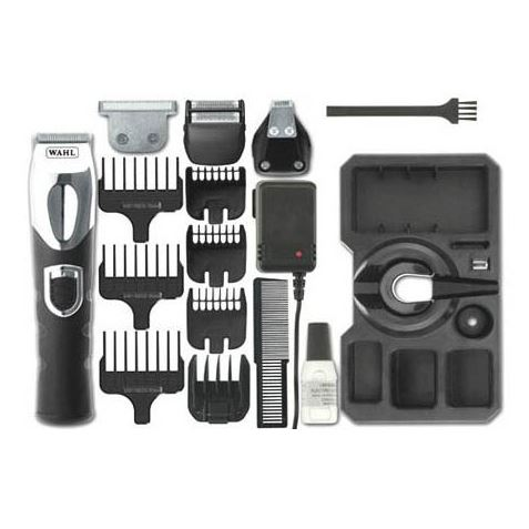 wahl 9854 800 deluxe mens hair beard shaver clipper trimmer grooming kit new ebay. Black Bedroom Furniture Sets. Home Design Ideas