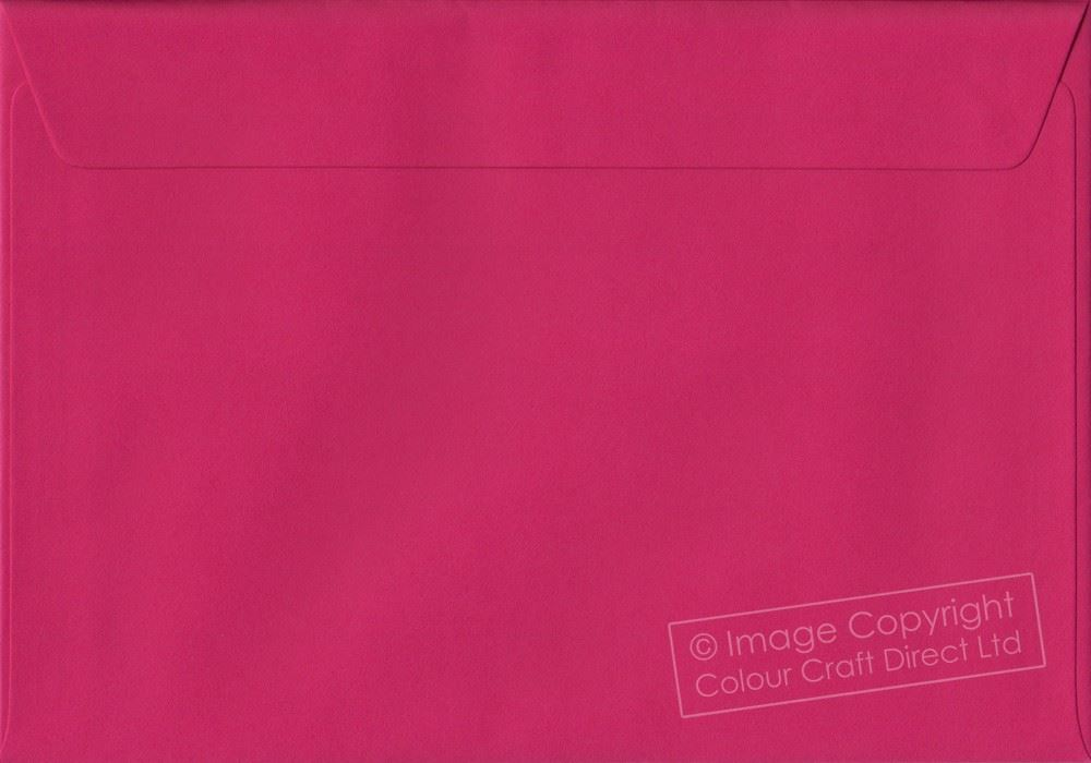 Fuchsia Pink C5 Envelopes - 162 mm x 229 mm 100gsm Self Seal A5 Colour Envelope
