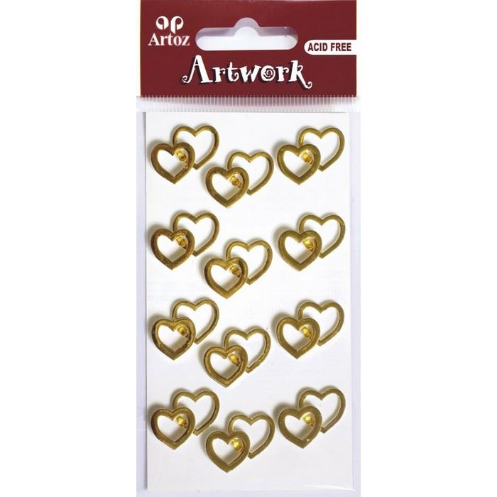 gold heart craft embellishment romantic wedding card