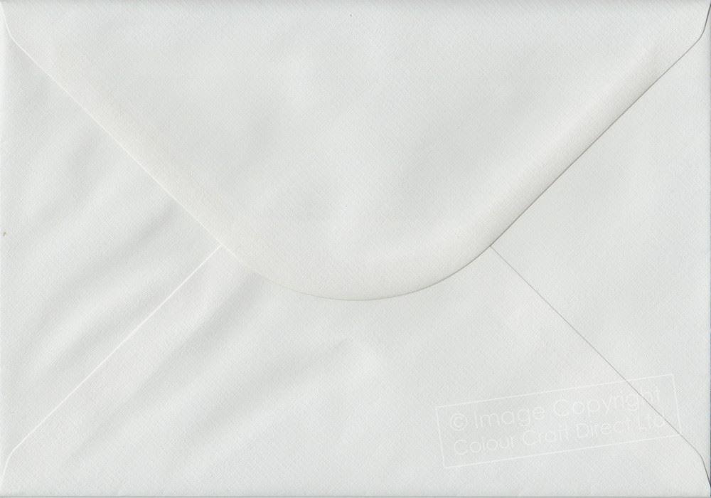 White Laid C5 Envelopes - 162 mm x 229 mm 100gsm Gummed A5 Size Colour Envelopes