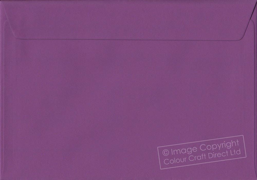 Purple C5 Envelopes - 162 mm x 229 mm 100gsm Self Seal A5 Colour Envelope