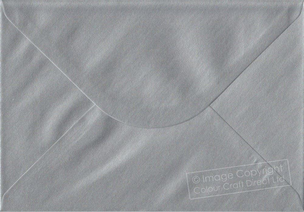 Metallic Silver C5 Envelopes - 162 mm x 229 mm Gummed A5 Size Colour Envelopes