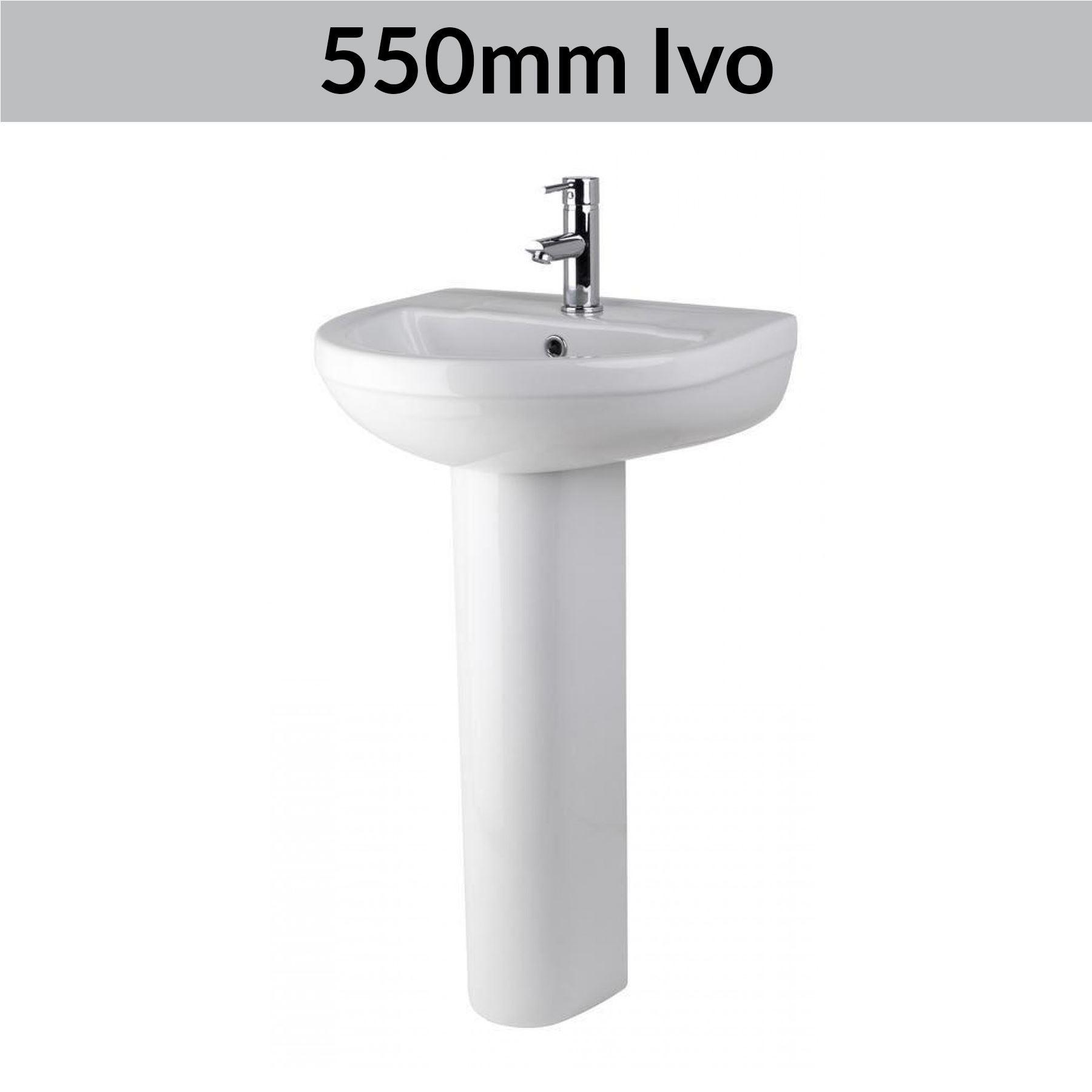 Modern Bathroom Basin Sinks Wash Full Pedestal Sink Ceramic Cloakroom Bowl White Ebay