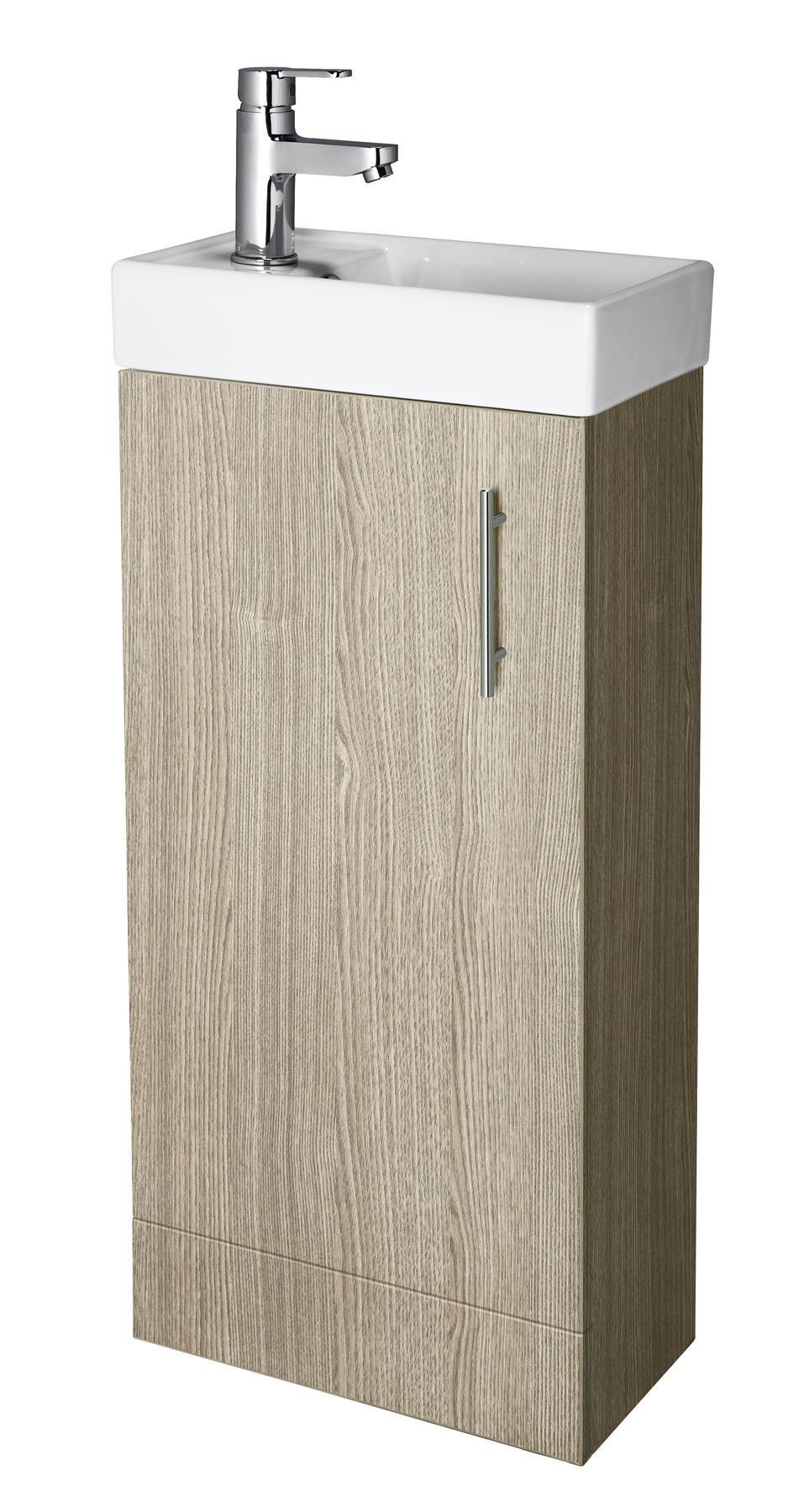 Compact 400mm bathroom cloakroom vanity unit basin sink for Bathroom cabinets 400mm wide