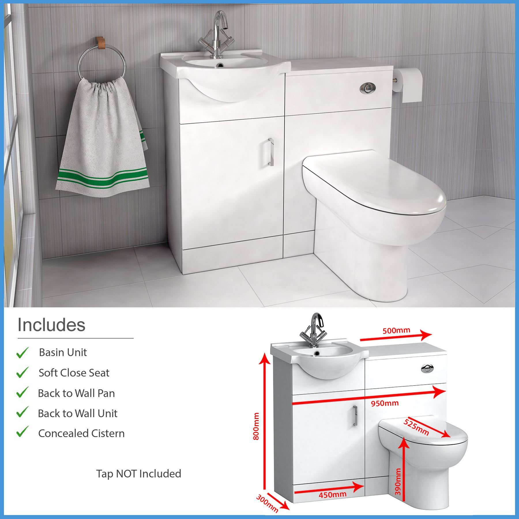 high gloss white bathroom furniture suite vanity unit cabinet wc unit btw toilet ebay. Black Bedroom Furniture Sets. Home Design Ideas