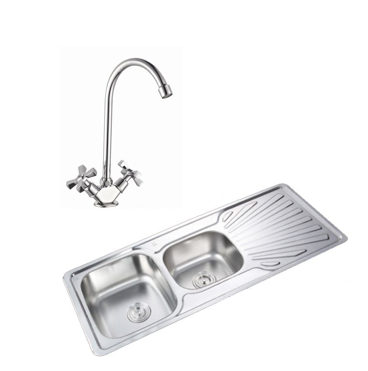 Easy-ES3022-1-0-Bowl-Stainless-Steel-Kitchen-Sink-Waste-Choice-of-Taps