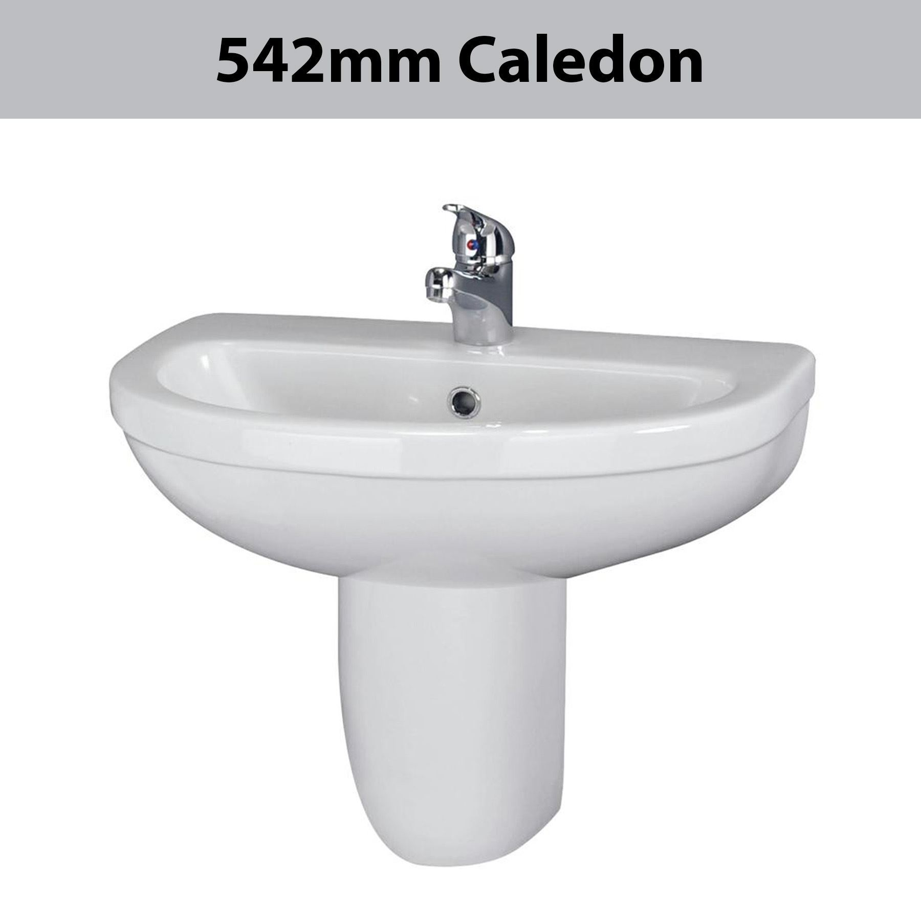 ... -Ceramic-Wall-Mounted-Basin-Sink-Semi-Pedestal-Bathroom-Cloakroom