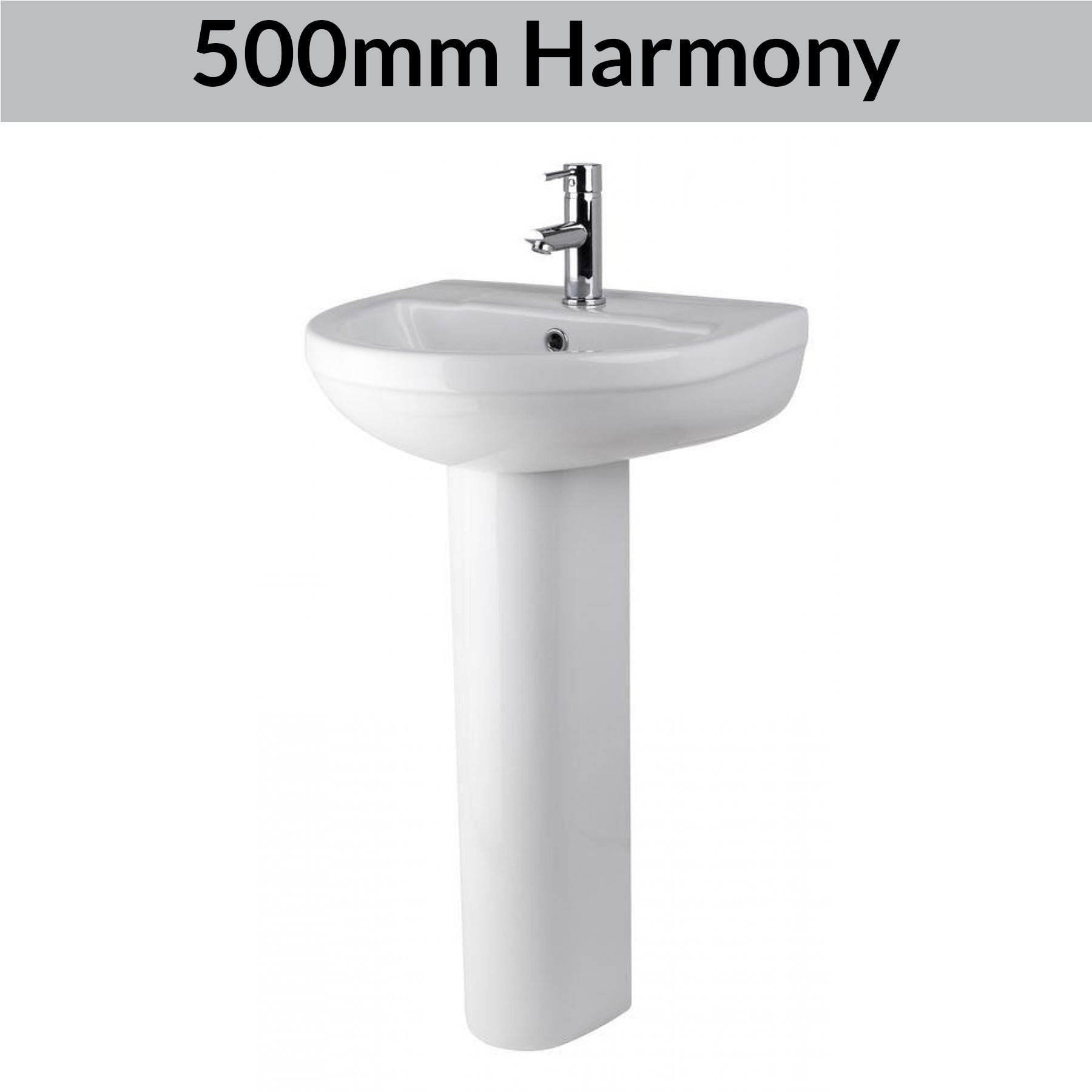 Modern Bathroom Basin Sinks Wash Full Pedestal Sink ...