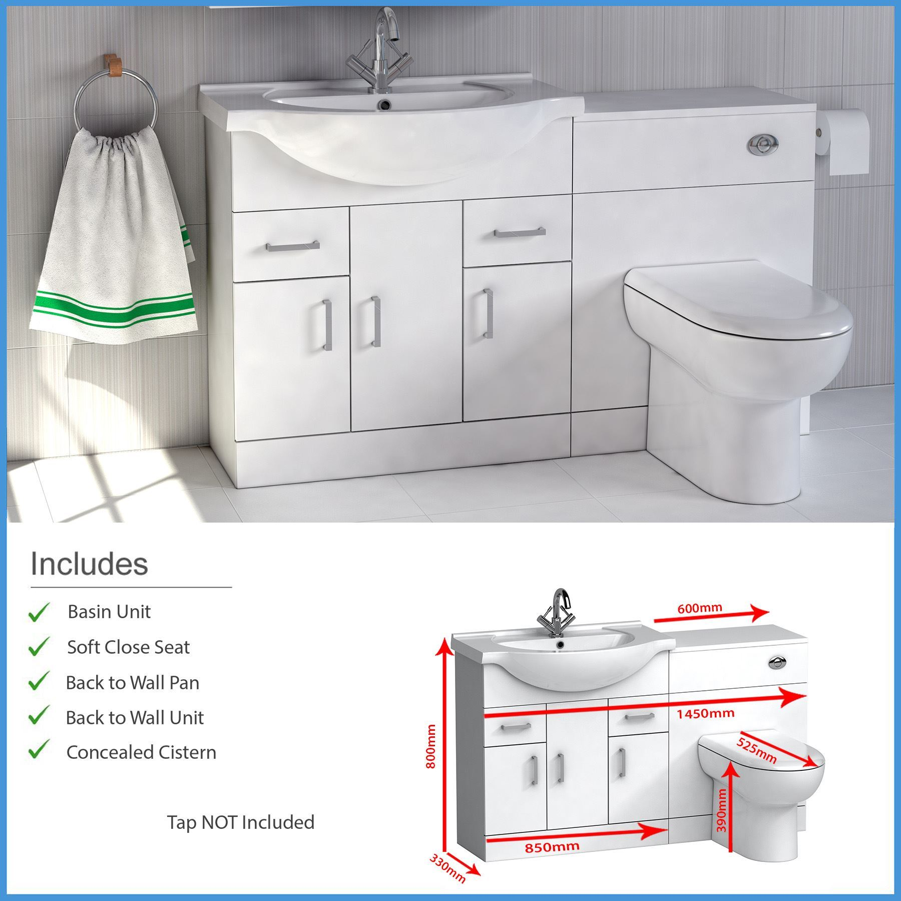 High gloss white bathroom furniture suite vanity unit - White gloss bathroom vanity unit ...