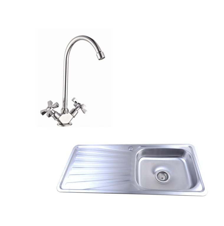 Easy-ES3010-1-0-Bowl-Stainless-Steel-Kitchen-Sink-Waste-Choice-of-Taps