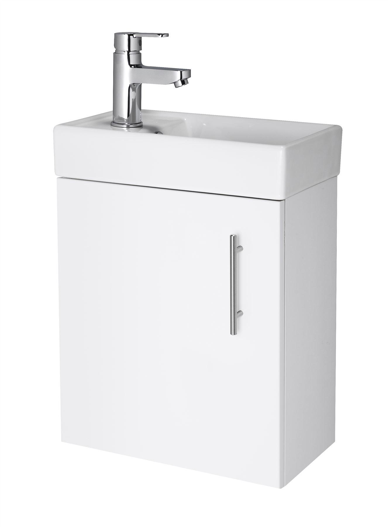 ... Bathroom Cloakroom Vanity Unit & Basin Sink Floor & Wall Hung eBay