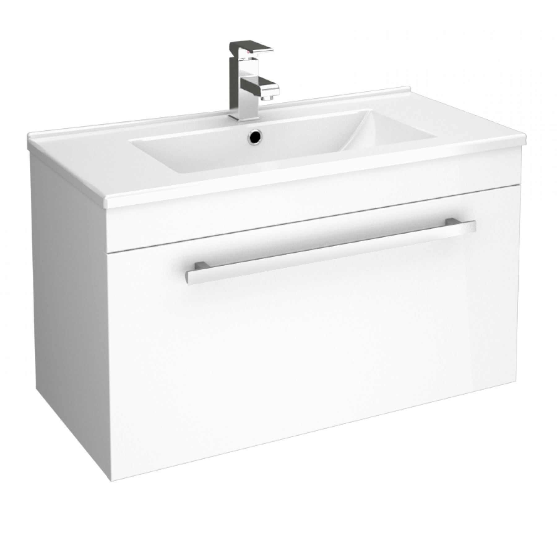 Wall Hung Sink Unit : Bathroom Storage Wall Hung Vanity Unit Cloakroom Cabinet Dropdown Sink ...