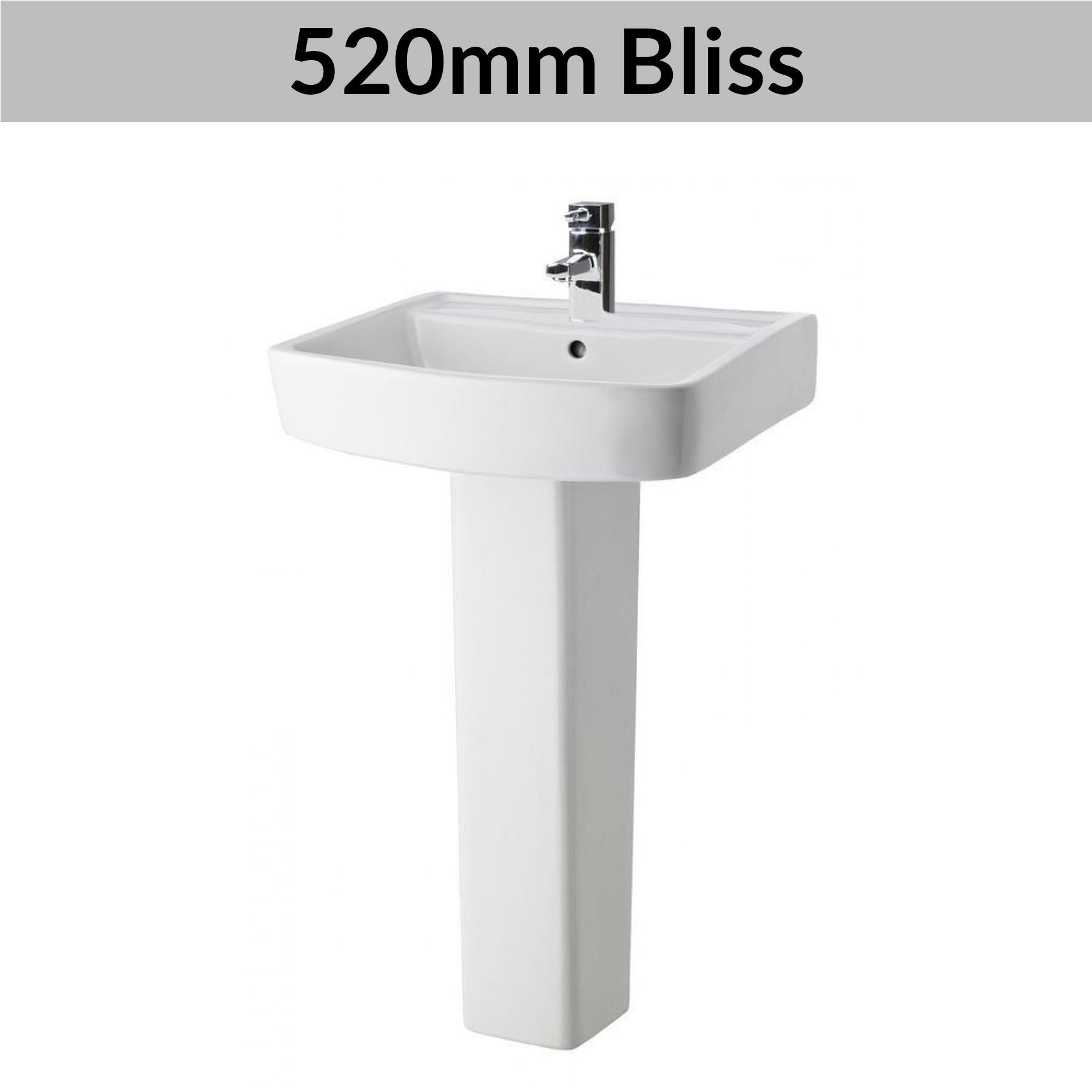 Modern Bathroom Basin Sinks Wash Full Pedestal Sink
