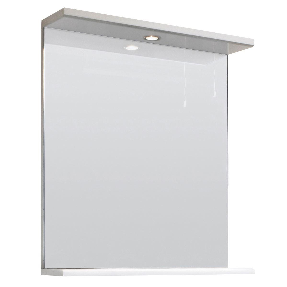 high gloss white illuminated bathroom mirror bath vanity cabinet light