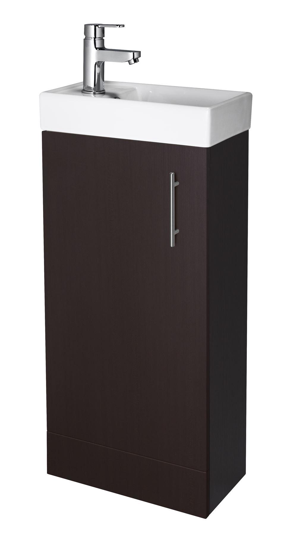 400mm Modern Bathroom Cloakroom Vanity Unit Basin Sink Floor Wall Hung