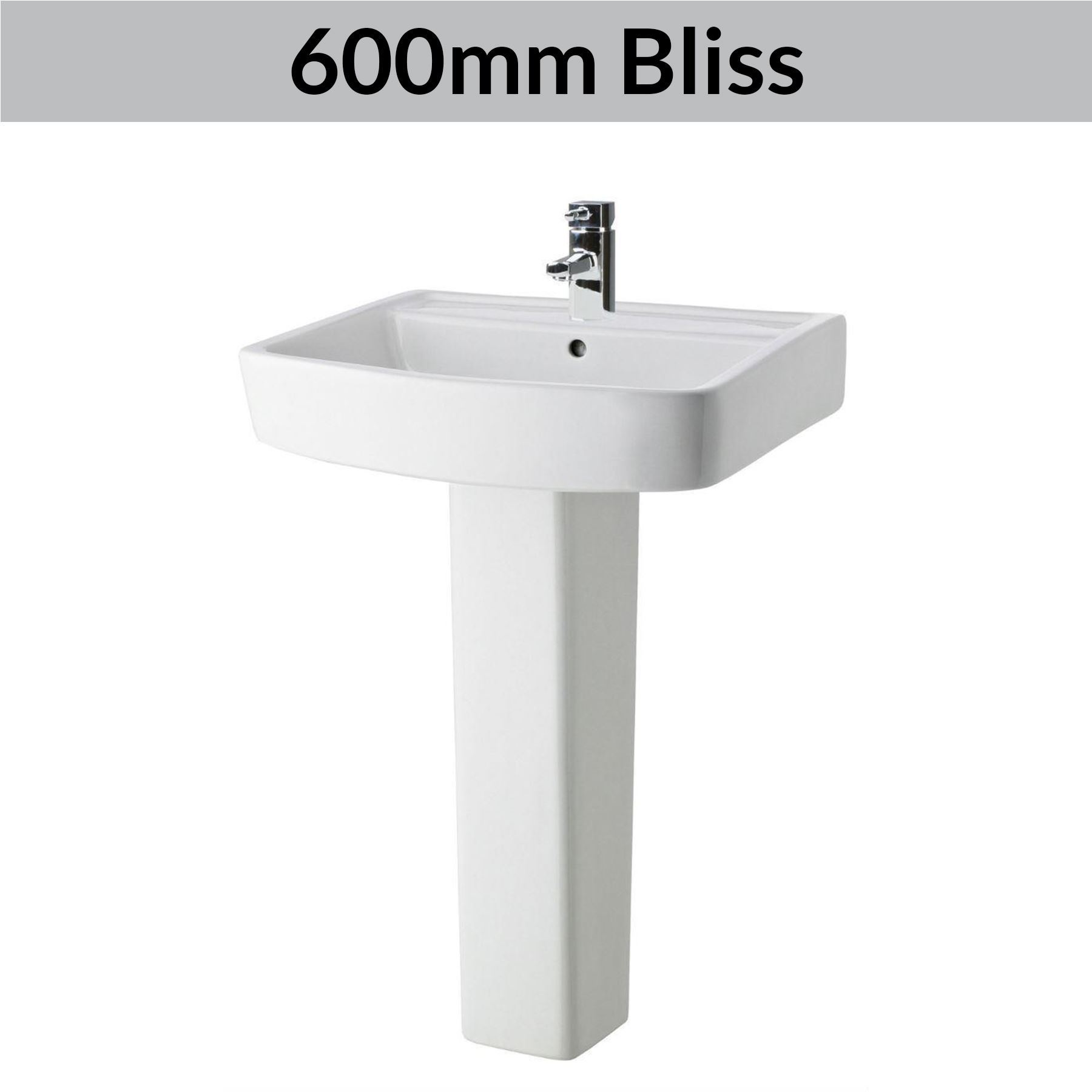 Modern Bathroom Basin Sinks Wash Full Pedestal Sink Ceramic Cloakroom Bowl White Ebay