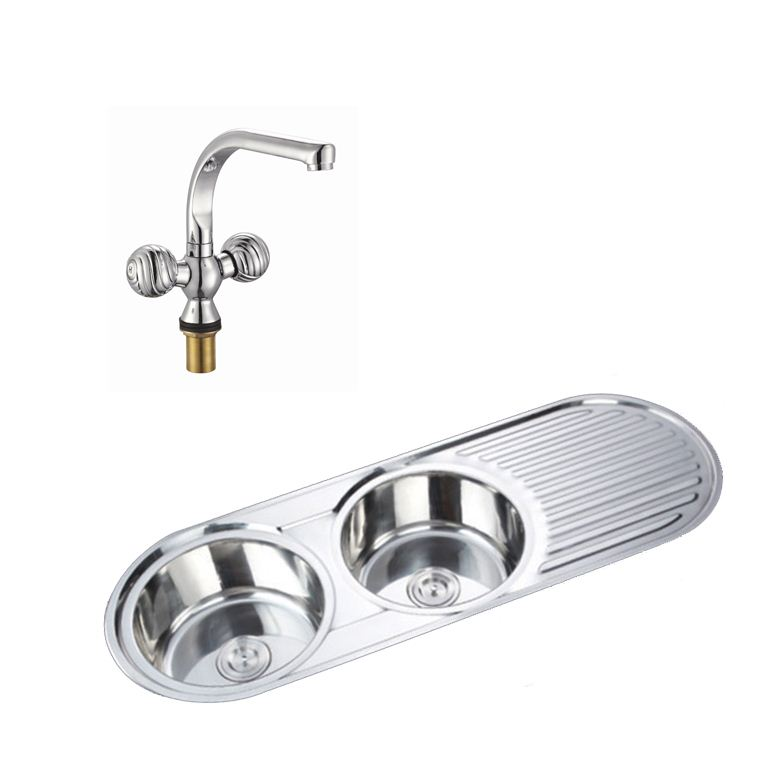 Easy es2021 2 0 round double bowl stainless steel kitchen - Round stainless steel kitchen sink ...